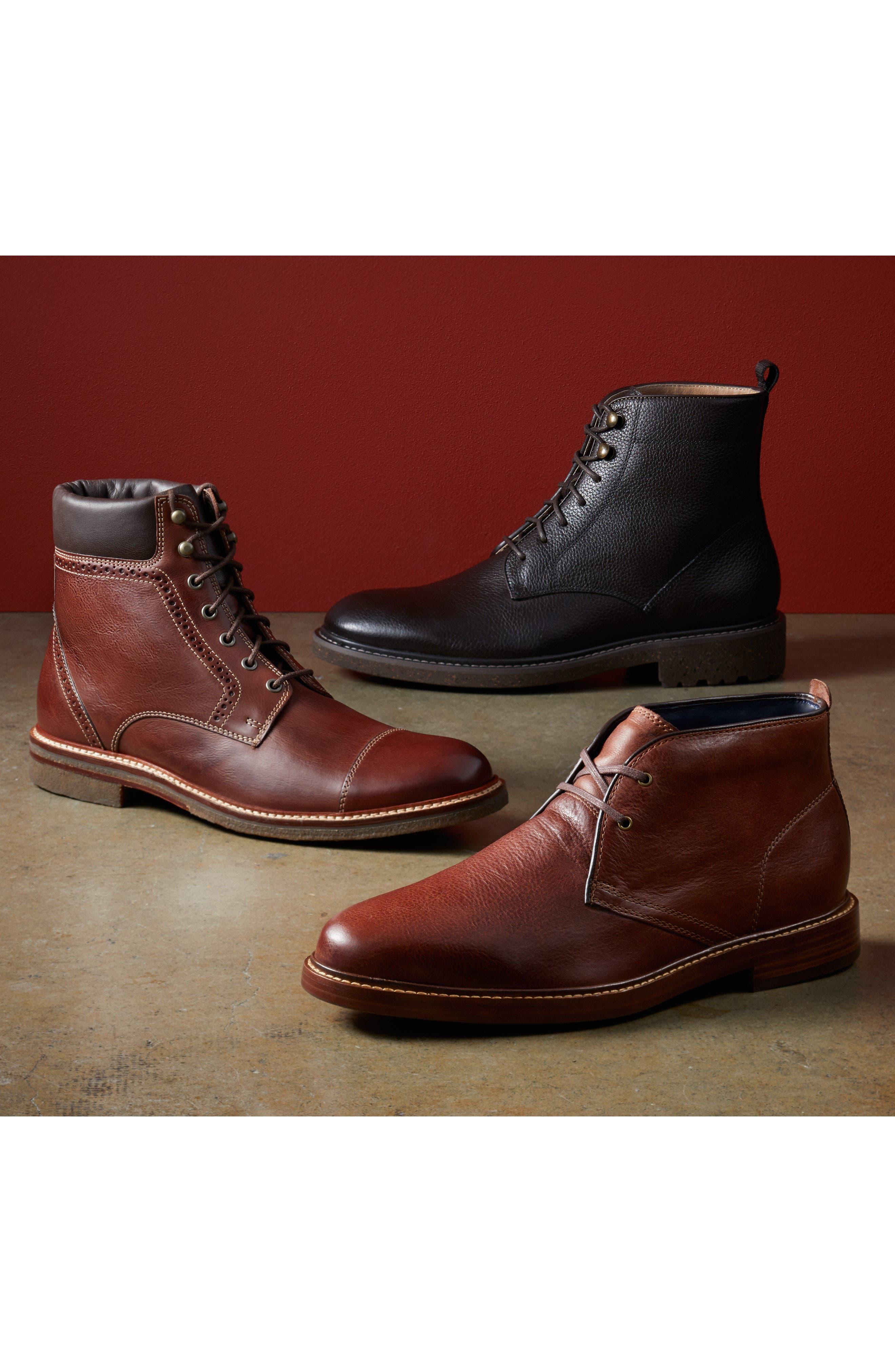 Trenton Plain Toe Boot,                             Alternate thumbnail 3, color,