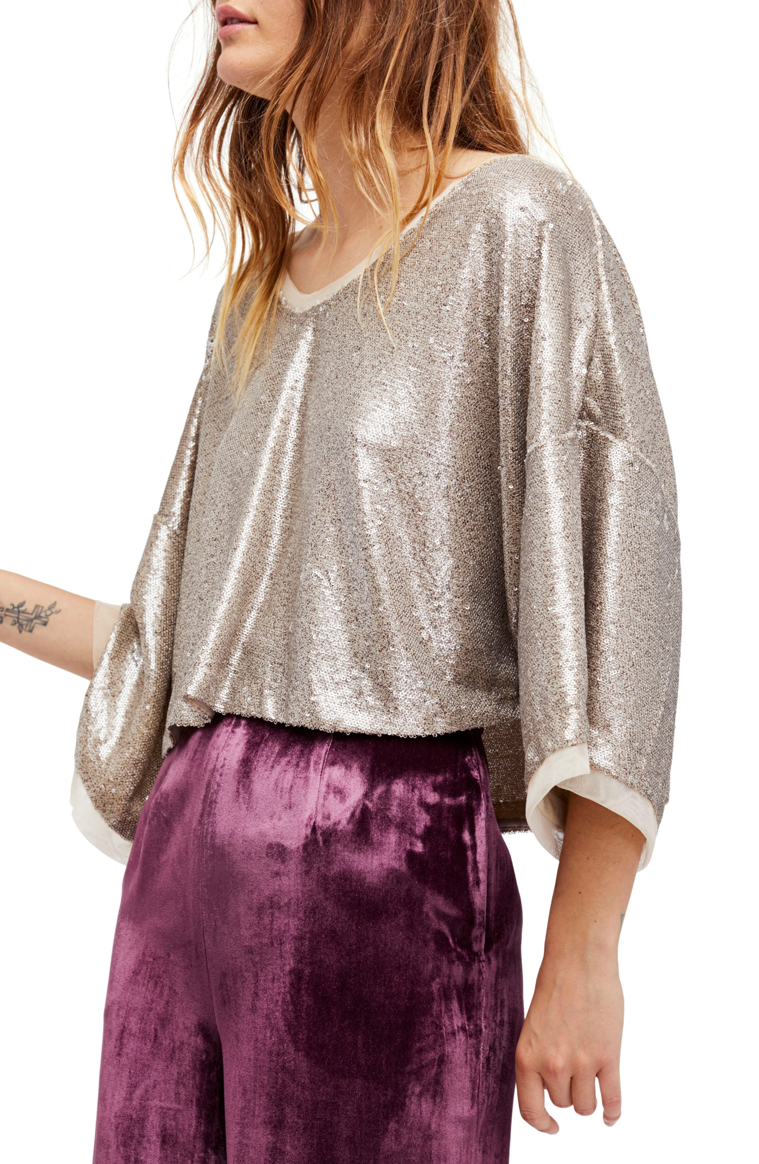 Alternate Image 1 Selected - Free People Champagne Dreams Top