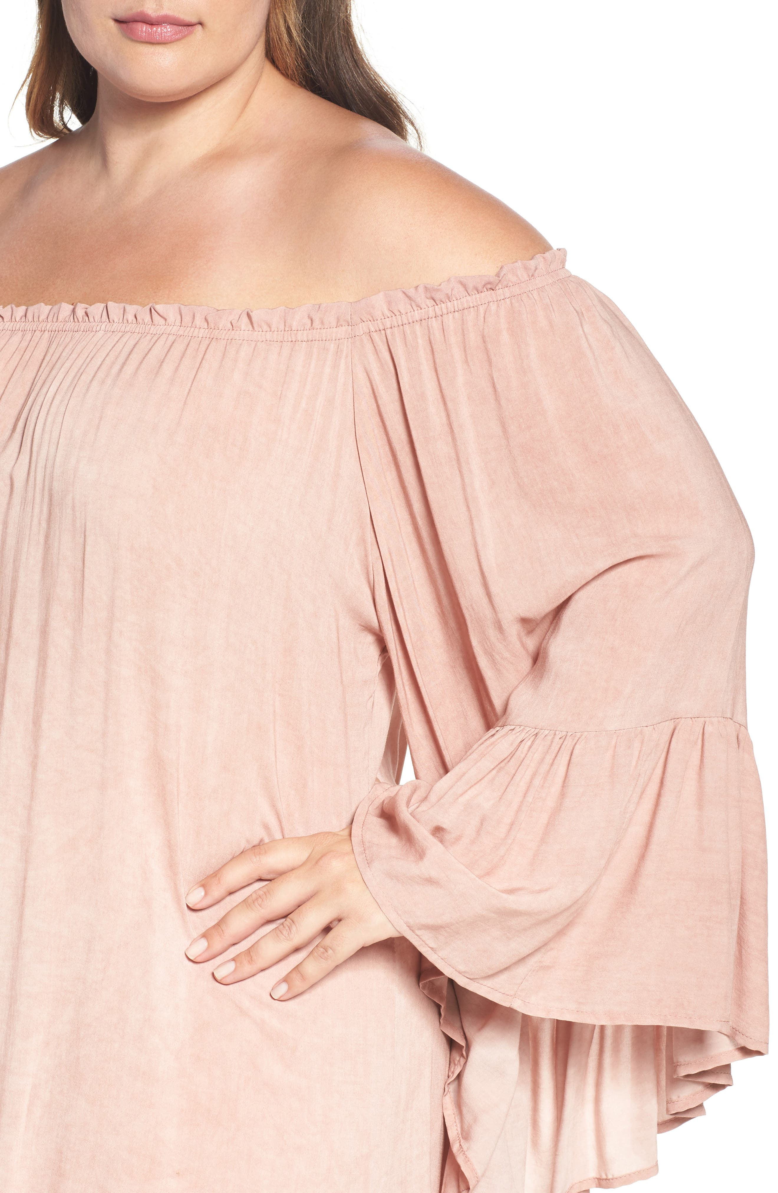 Alternate Image 4  - Elan Cover-Up Dress (Plus Size)