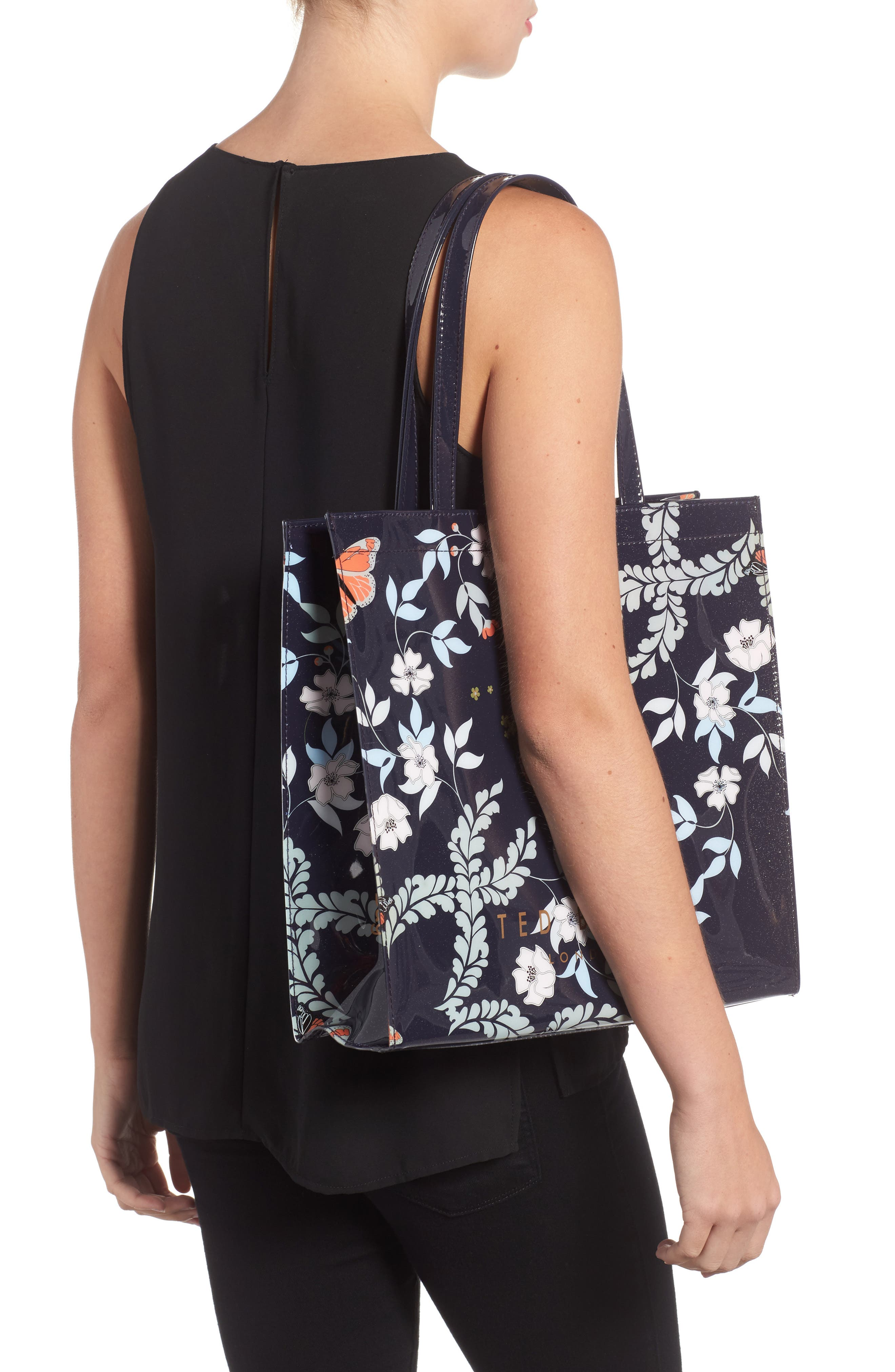 Large Icon - Kyoto Gardens Tote,                             Alternate thumbnail 2, color,                             Mid Blue