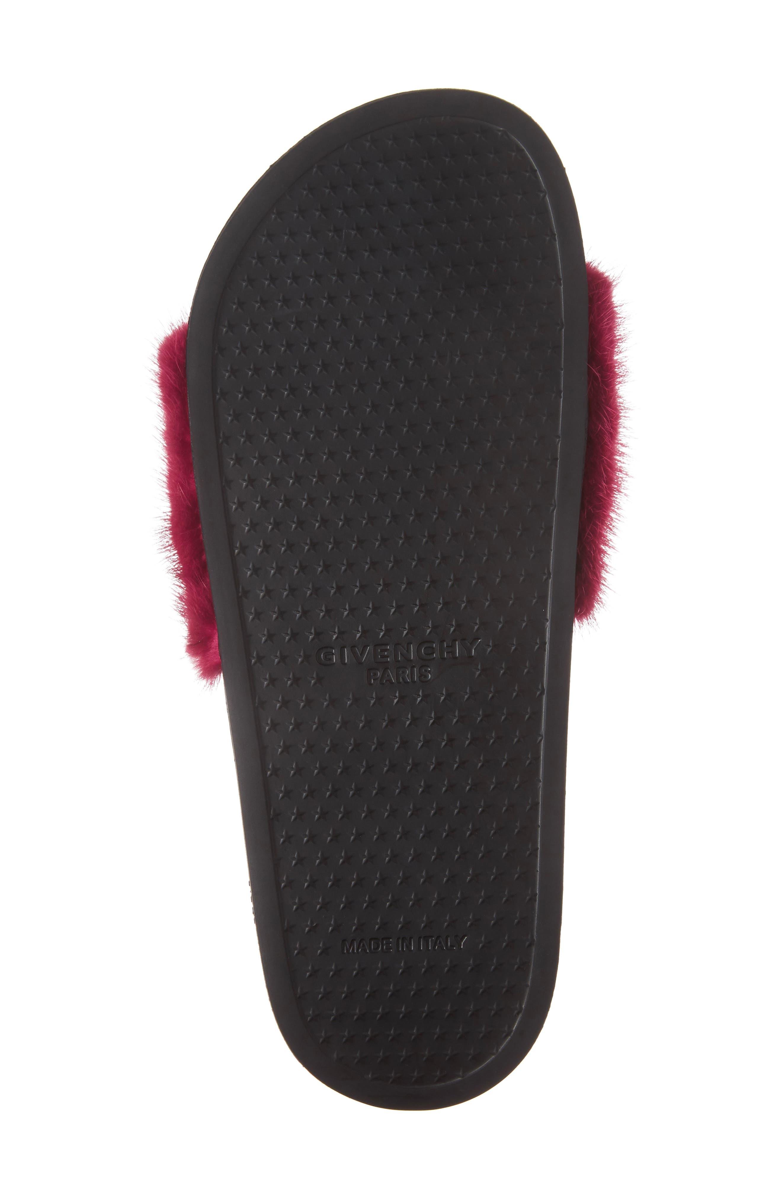 Alternate Image 6  - Givenchy Genuine Mink Fur Slide Sandal (Women)