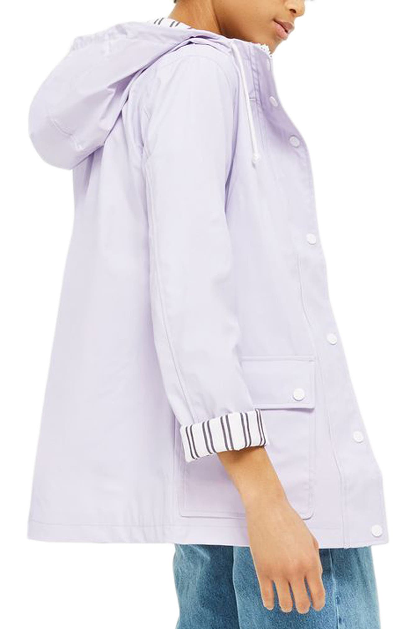 Maisie Rain Mac Jacket,                             Alternate thumbnail 2, color,                             Lilac