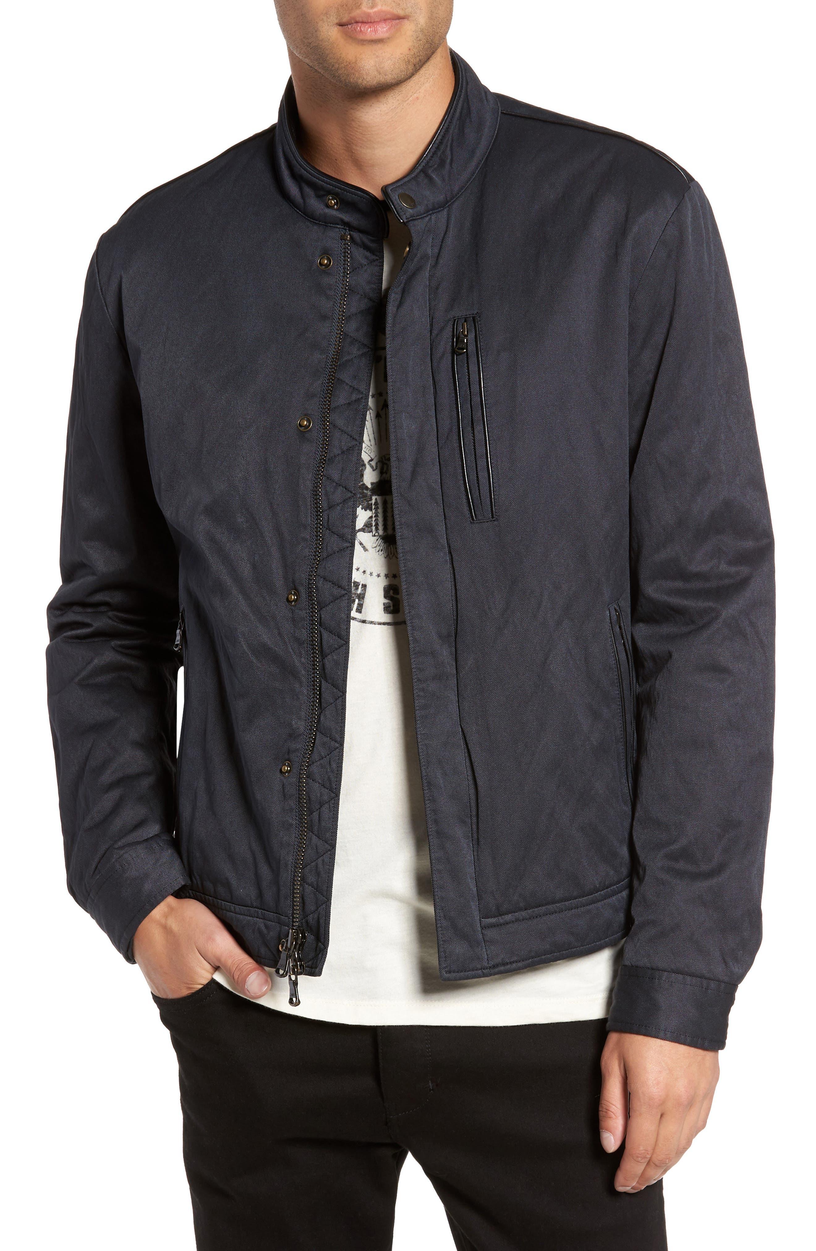 Band Collar Jacket,                             Main thumbnail 1, color,                             Midnight