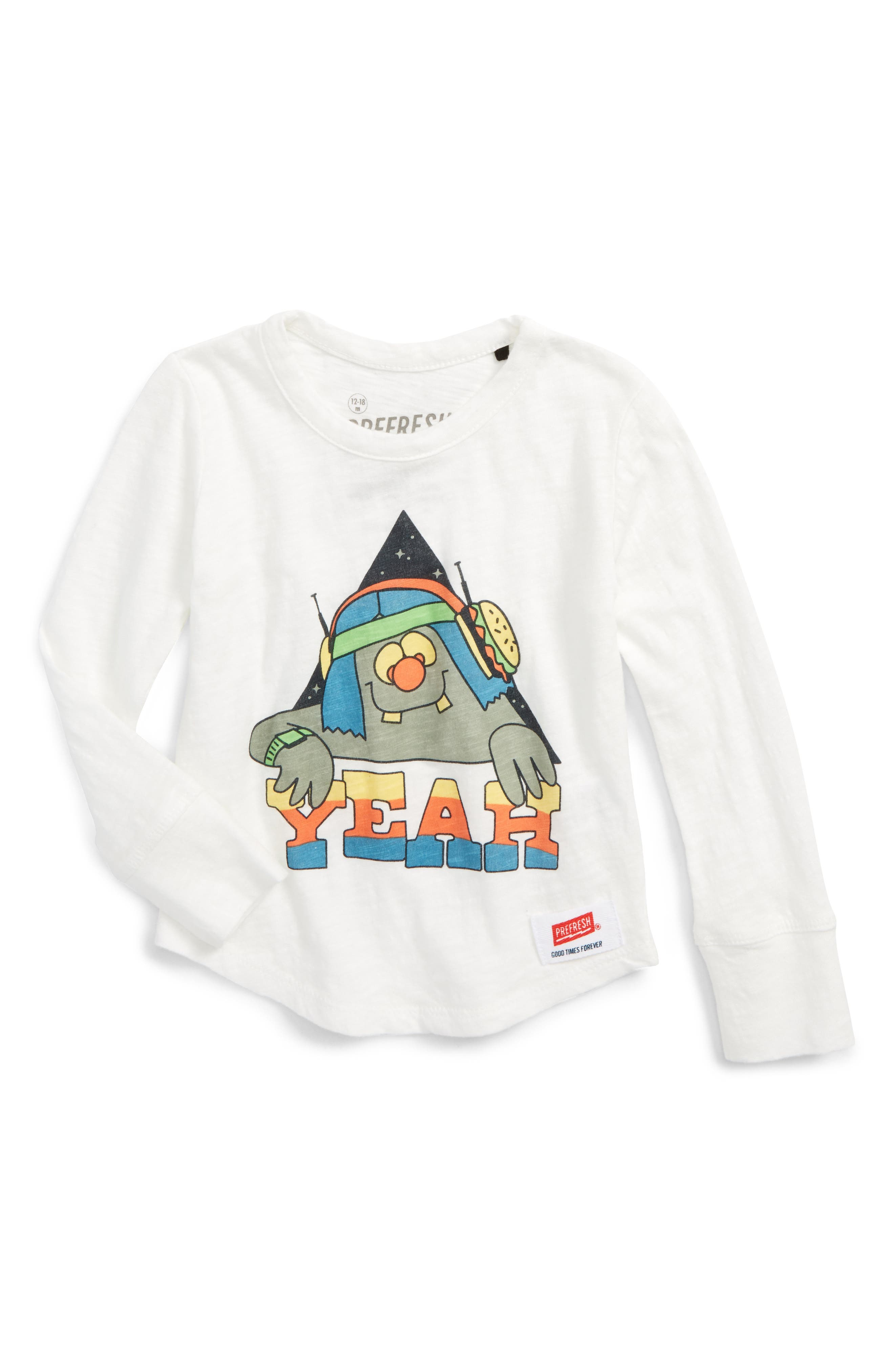 Main Image - Prefresh Yeah Guy Graphic T-Shirt (Baby Girls)