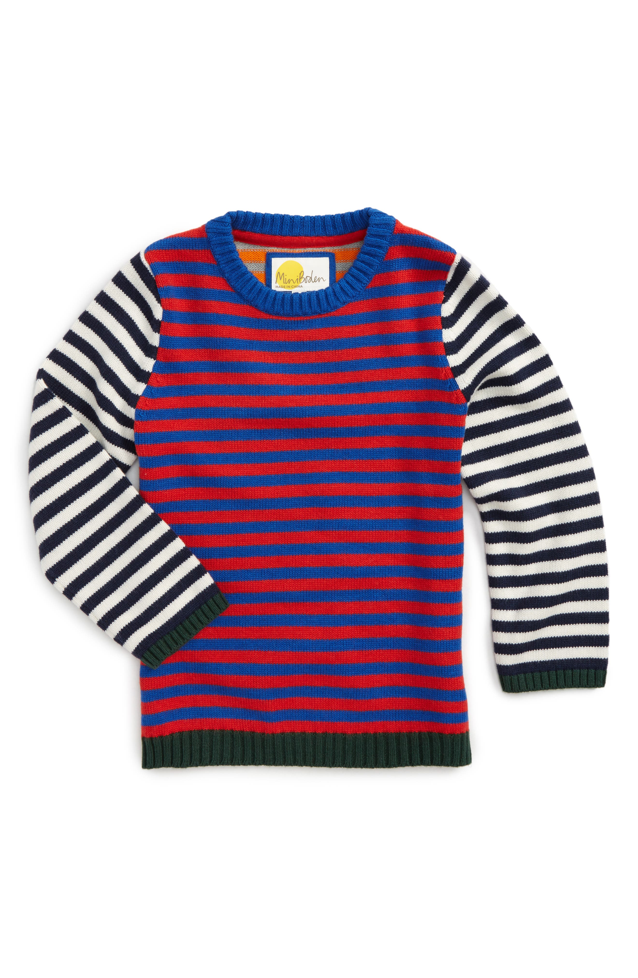 Main Image - Mini Boden Hotchpotch Sweater (Toddler Boys, Little Boys & Big Boys)