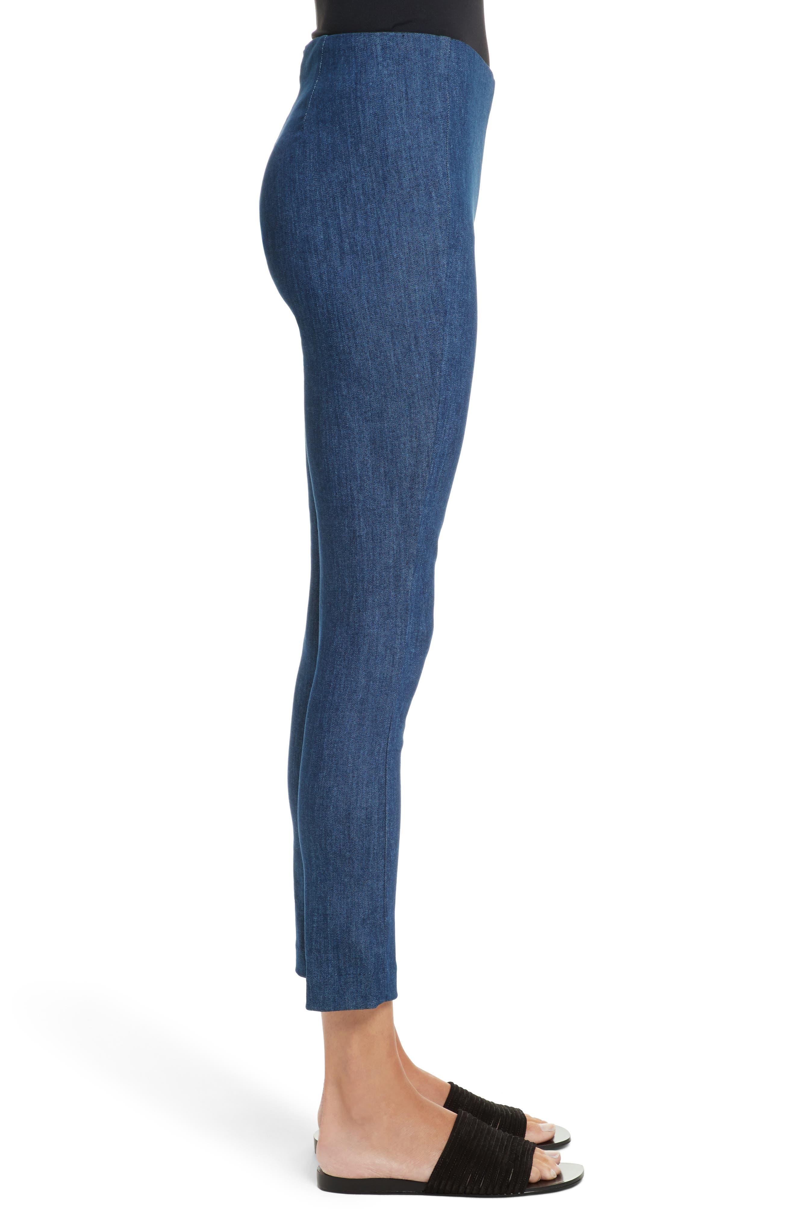 Simone Slim Ankle Pants,                             Alternate thumbnail 3, color,                             Mid Blue