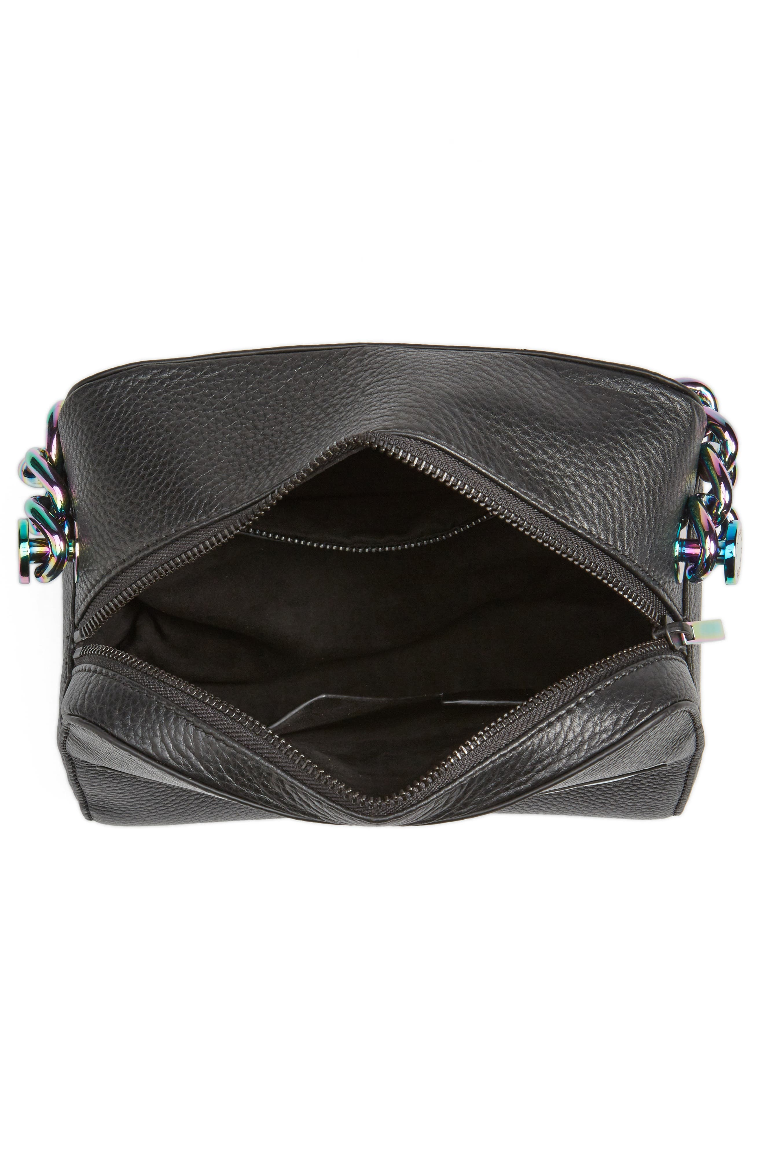 Lucy Lips Crossbody Bag,                             Alternate thumbnail 3, color,                             Black