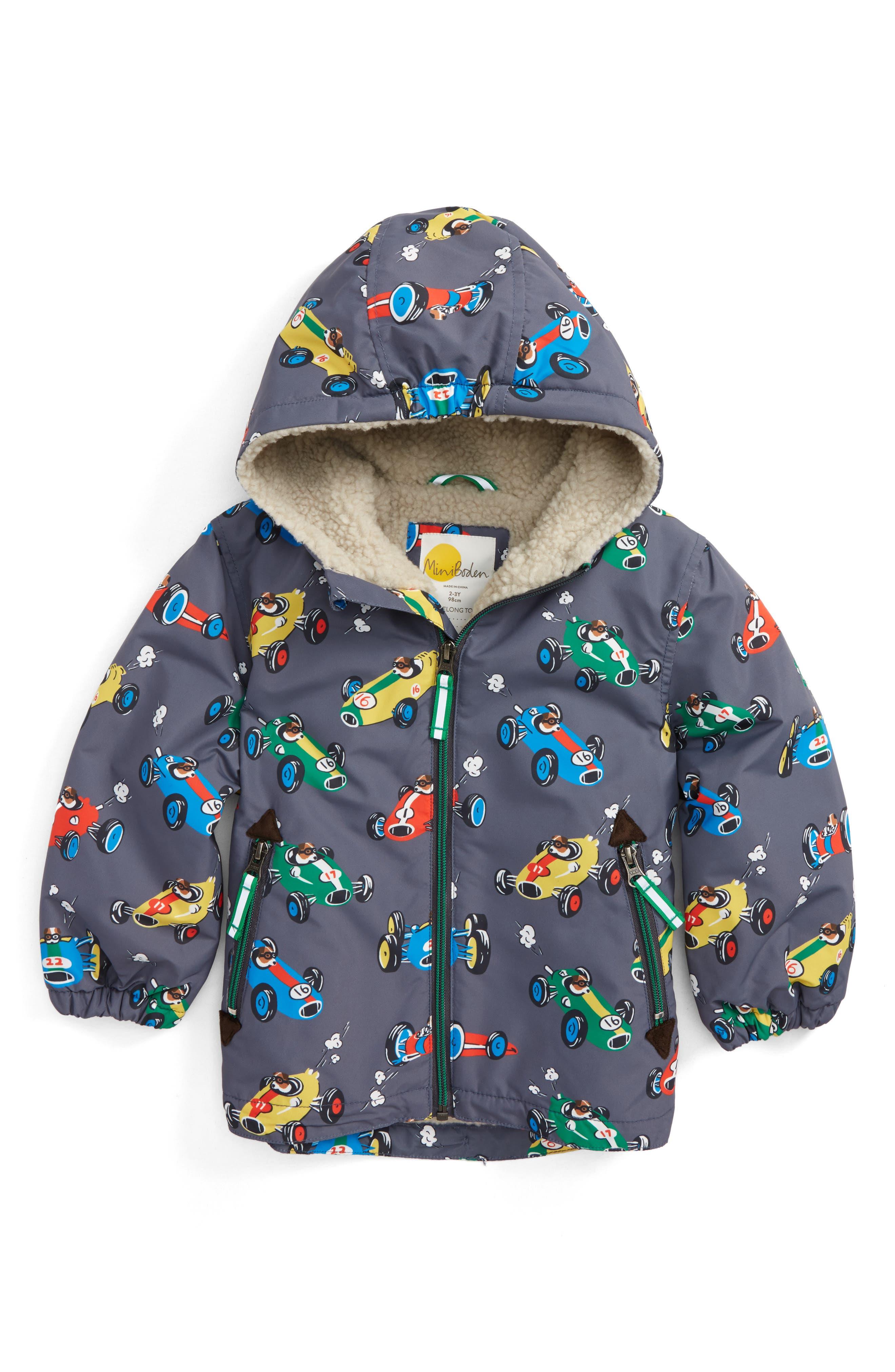 Main Image - Mini Boden Hooded Anorak (Toddler Boys, Little Boys & Big Boys)