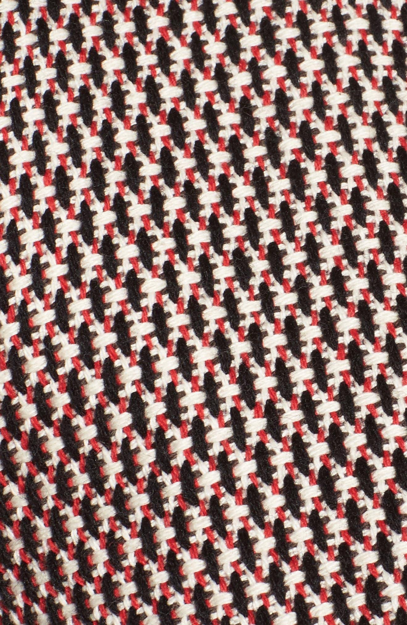 Keili Collarless Tweed Jacket,                             Alternate thumbnail 6, color,                             Vanilla Fantasy
