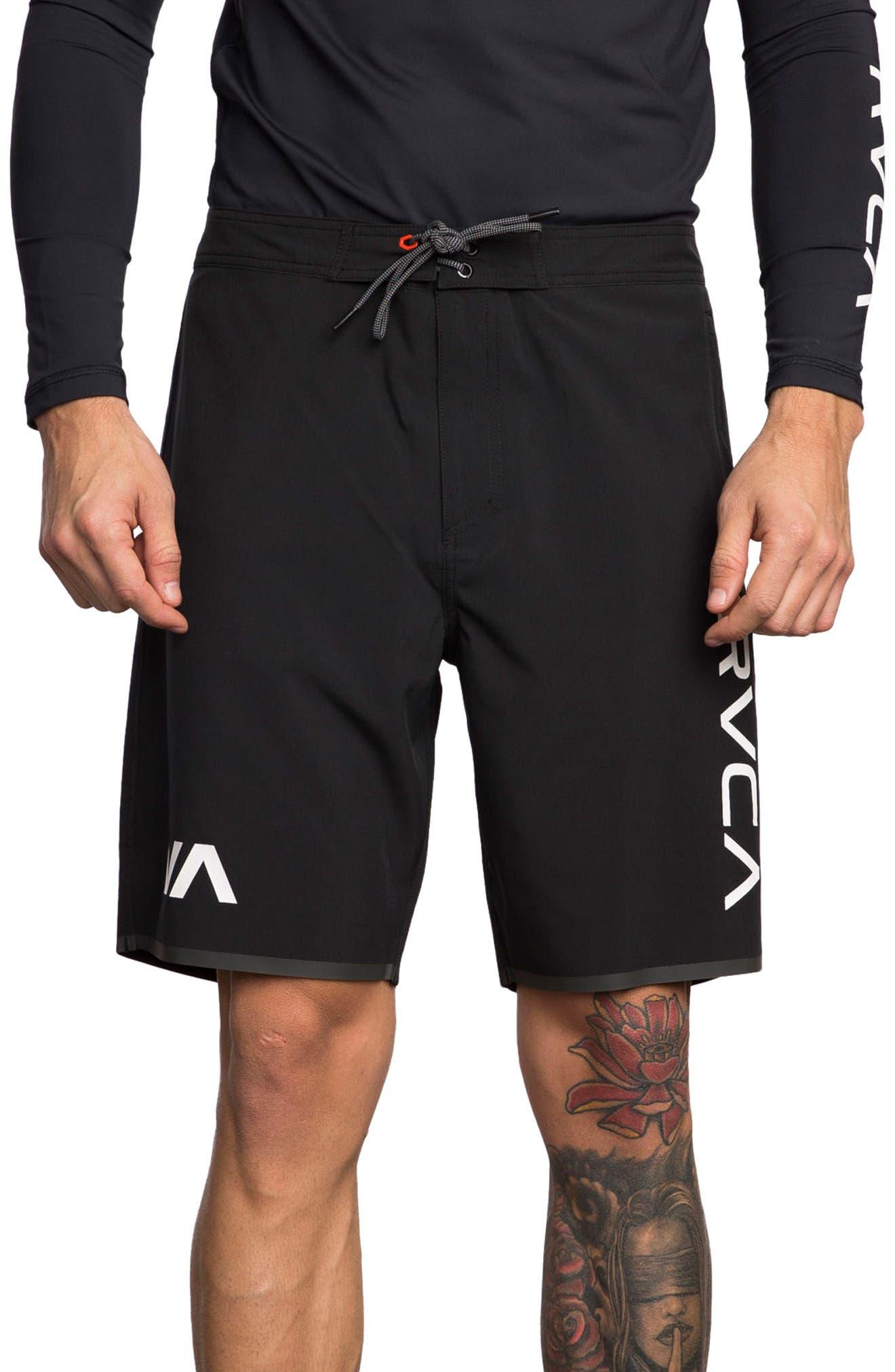 Staff III Dual Layer Performance Shorts,                         Main,                         color, Black