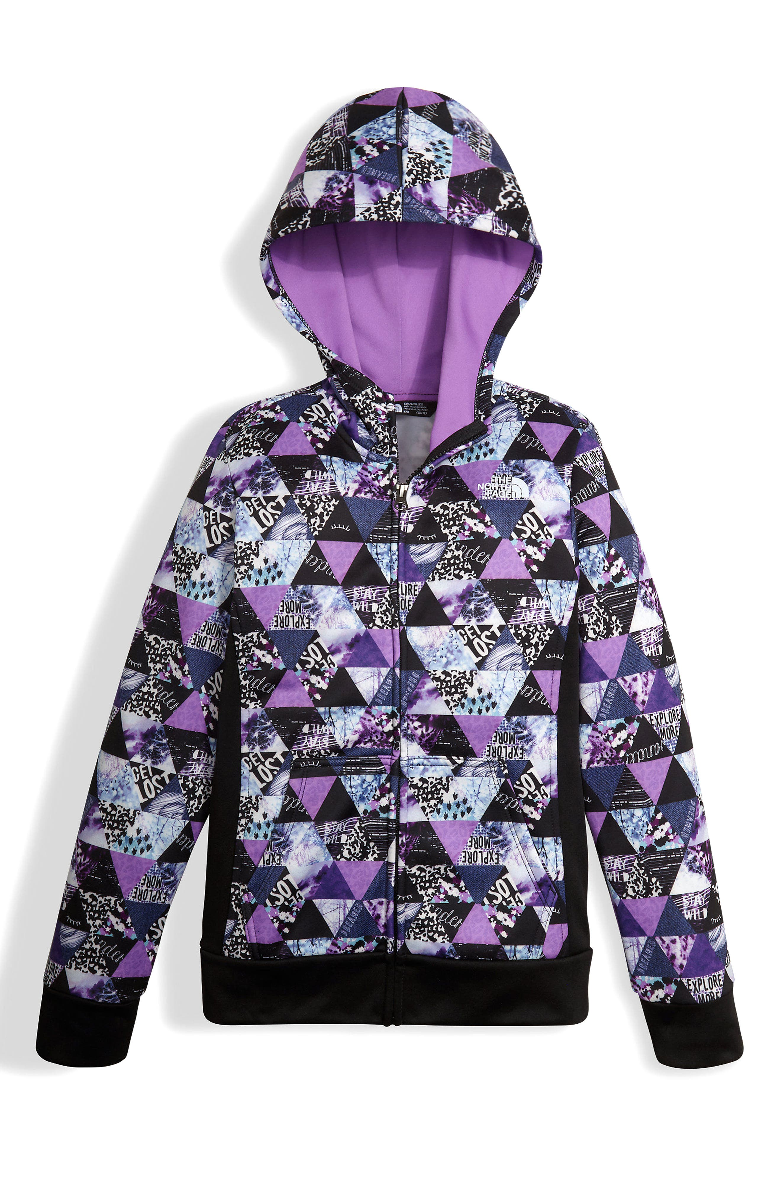Surgent Full Zip Hoodie,                         Main,                         color, Bellflower Purple