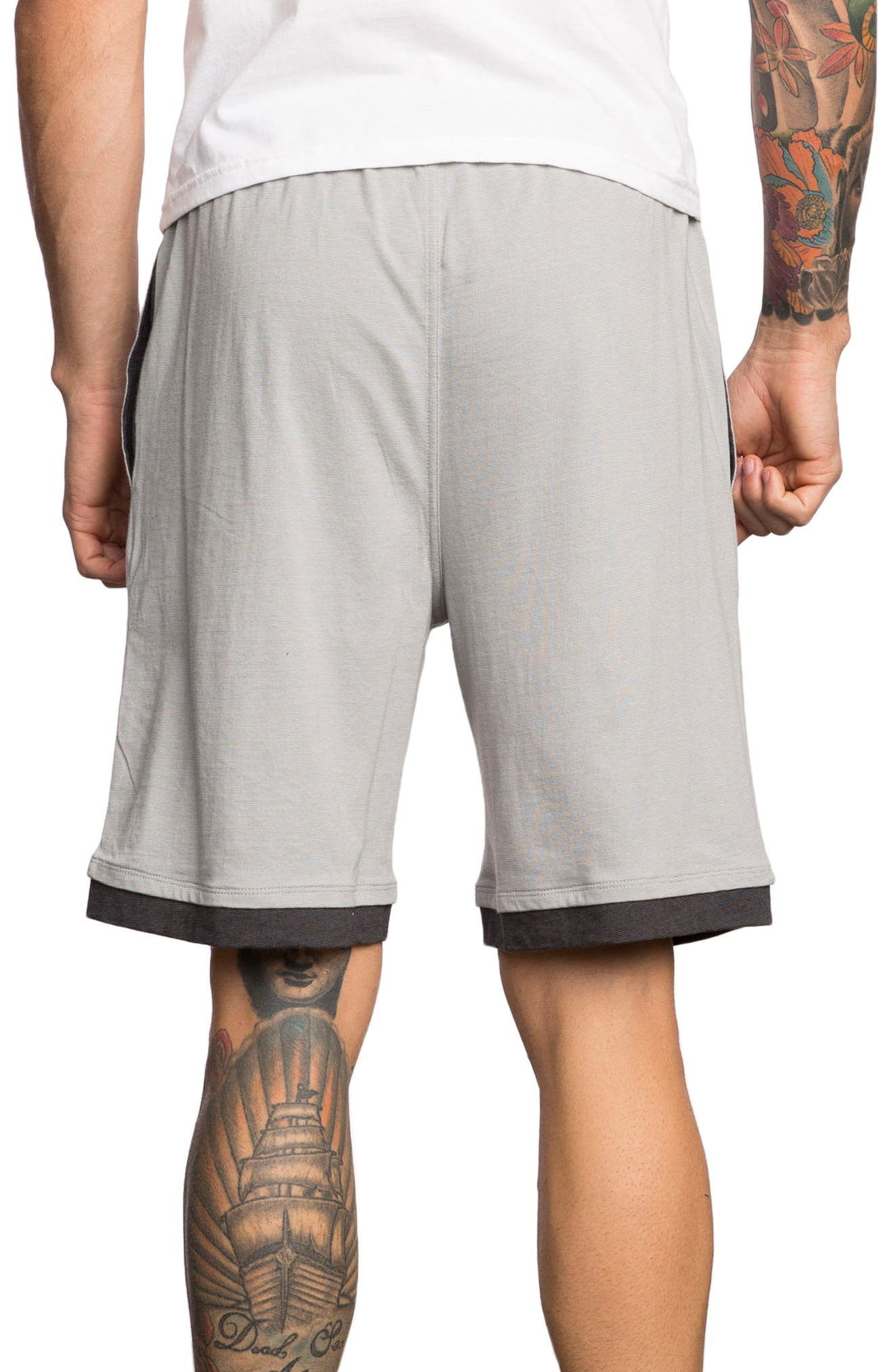 Layers Sport Shorts,                             Alternate thumbnail 2, color,                             Athletic Heather