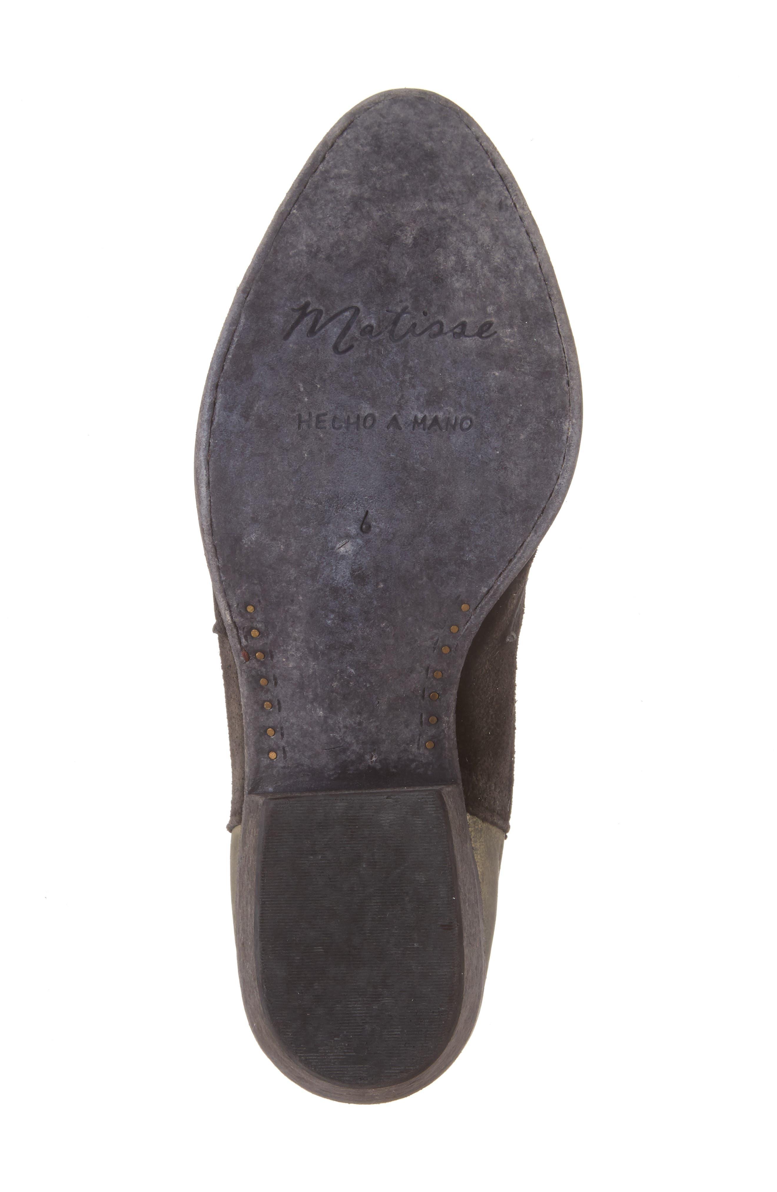 Royston Bootie,                             Alternate thumbnail 6, color,                             Black Leather