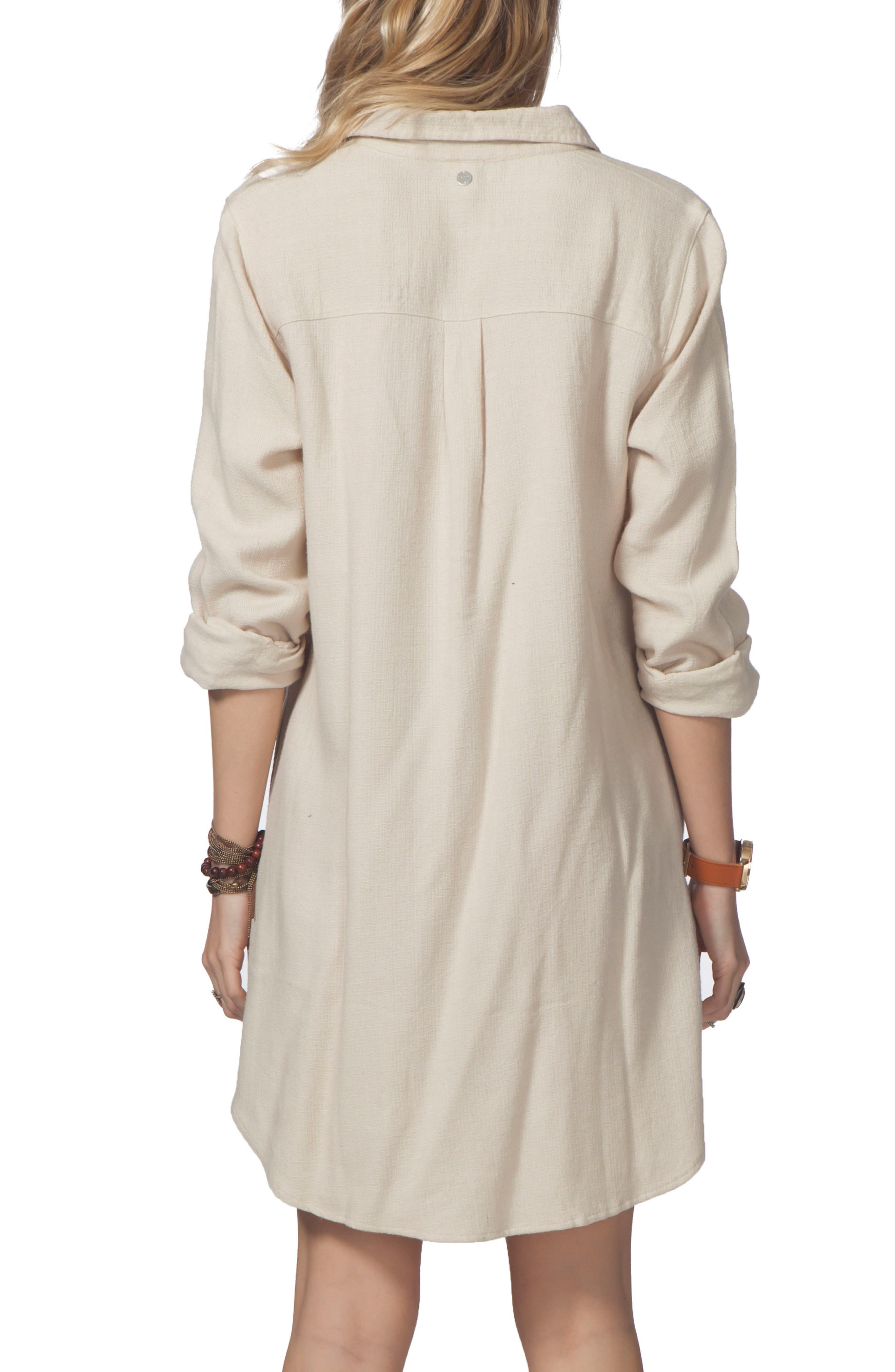 Ri Curl Lizzie Shirtdress,                             Alternate thumbnail 2, color,                             Vanilla