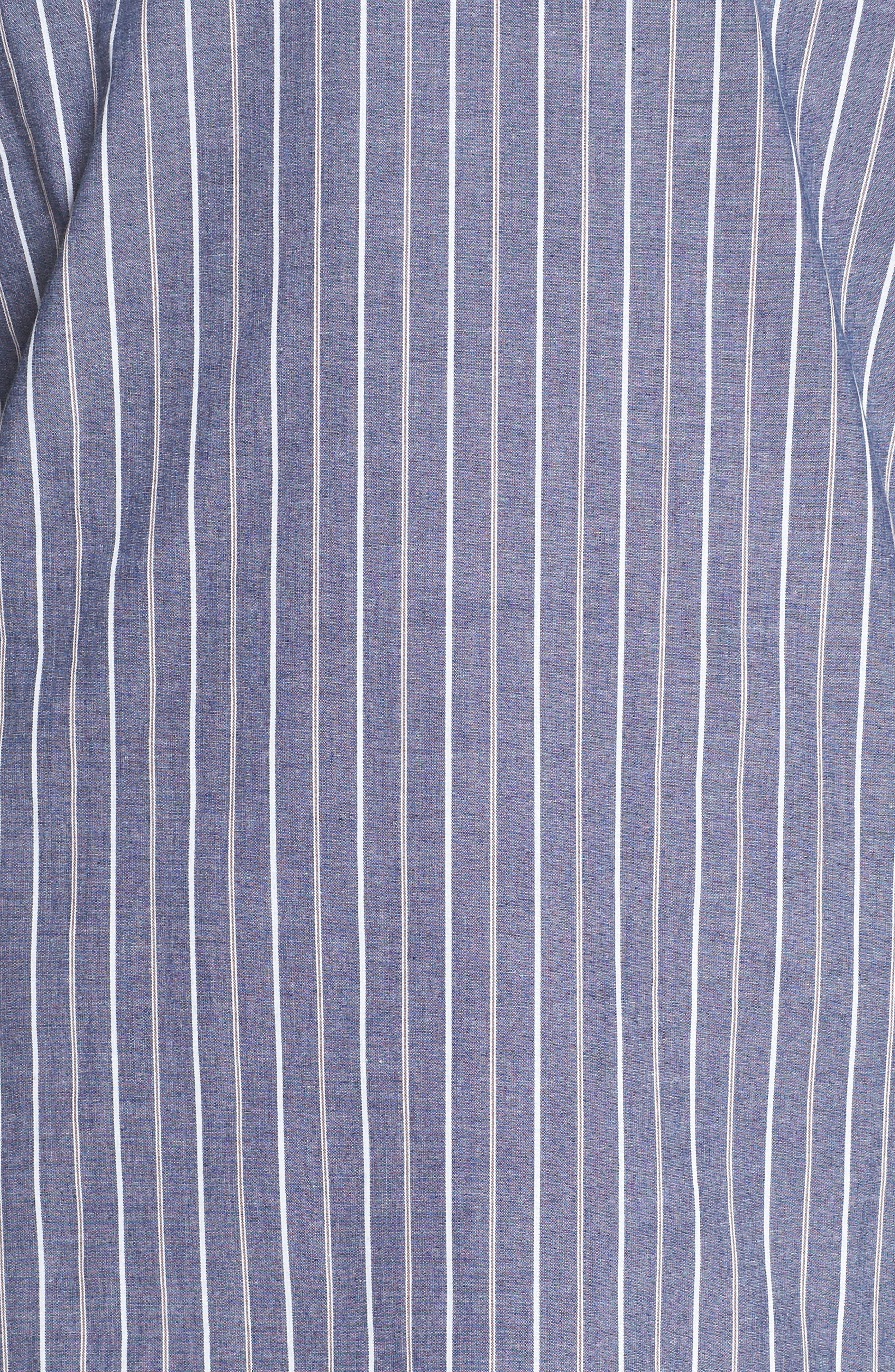 Alternate Image 5  - Charles Henry Ruched Sleeve Poplin Shift Dress