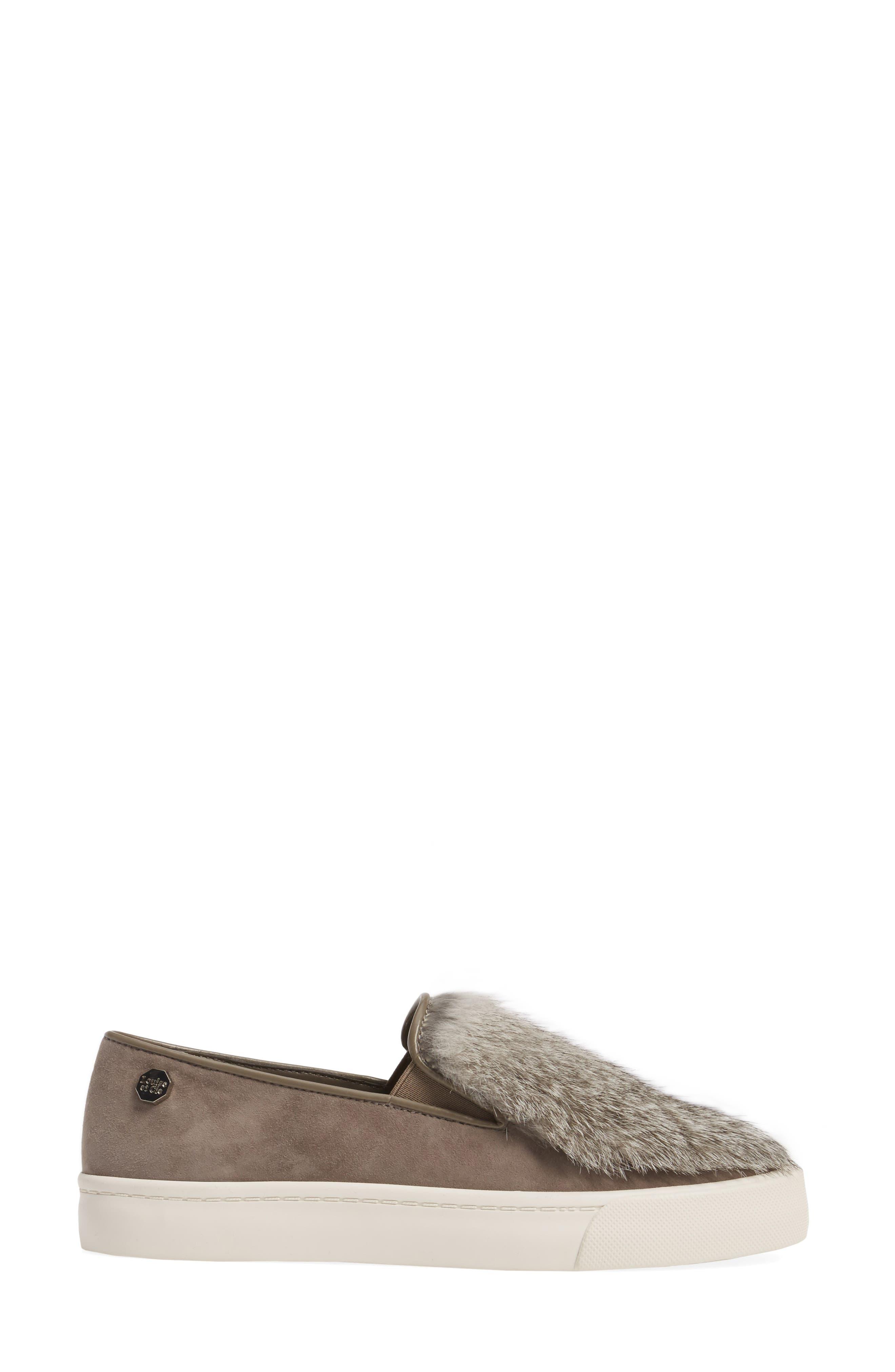 Alternate Image 3  - Louise et Cie Bershner Genuine Rabbit Fur Slip-On Sneaker (Women)