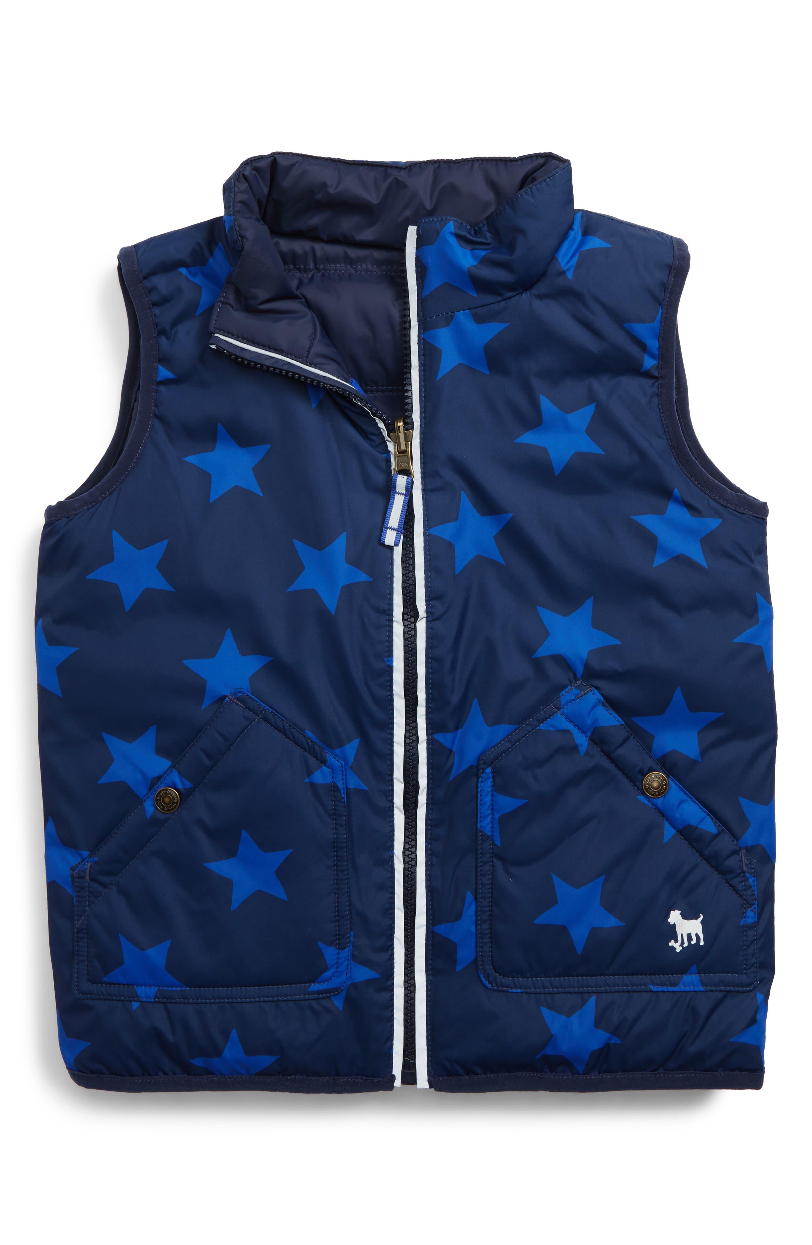 Reversible Vest,                         Main,                         color, Klein Star/ Rainbow Stripe