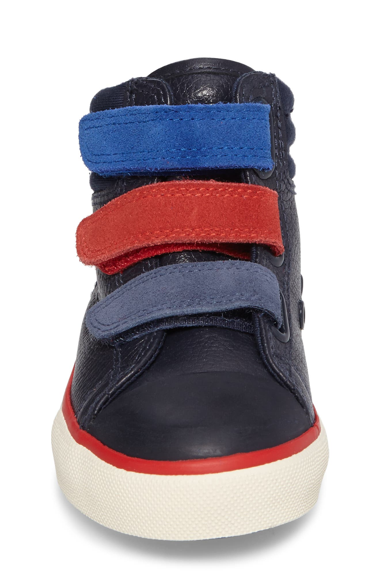High Top Sneaker,                             Alternate thumbnail 4, color,                             Navy