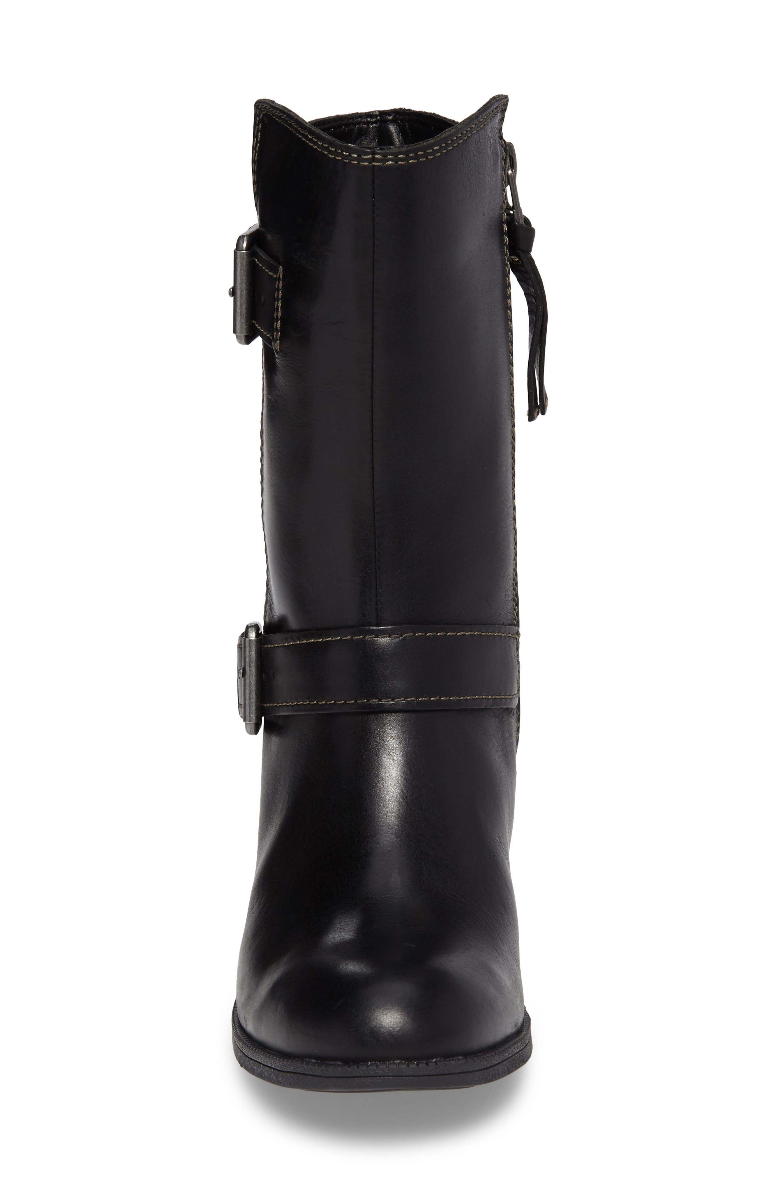 Maypearl Oasis Boot,                             Alternate thumbnail 4, color,                             Black Leather