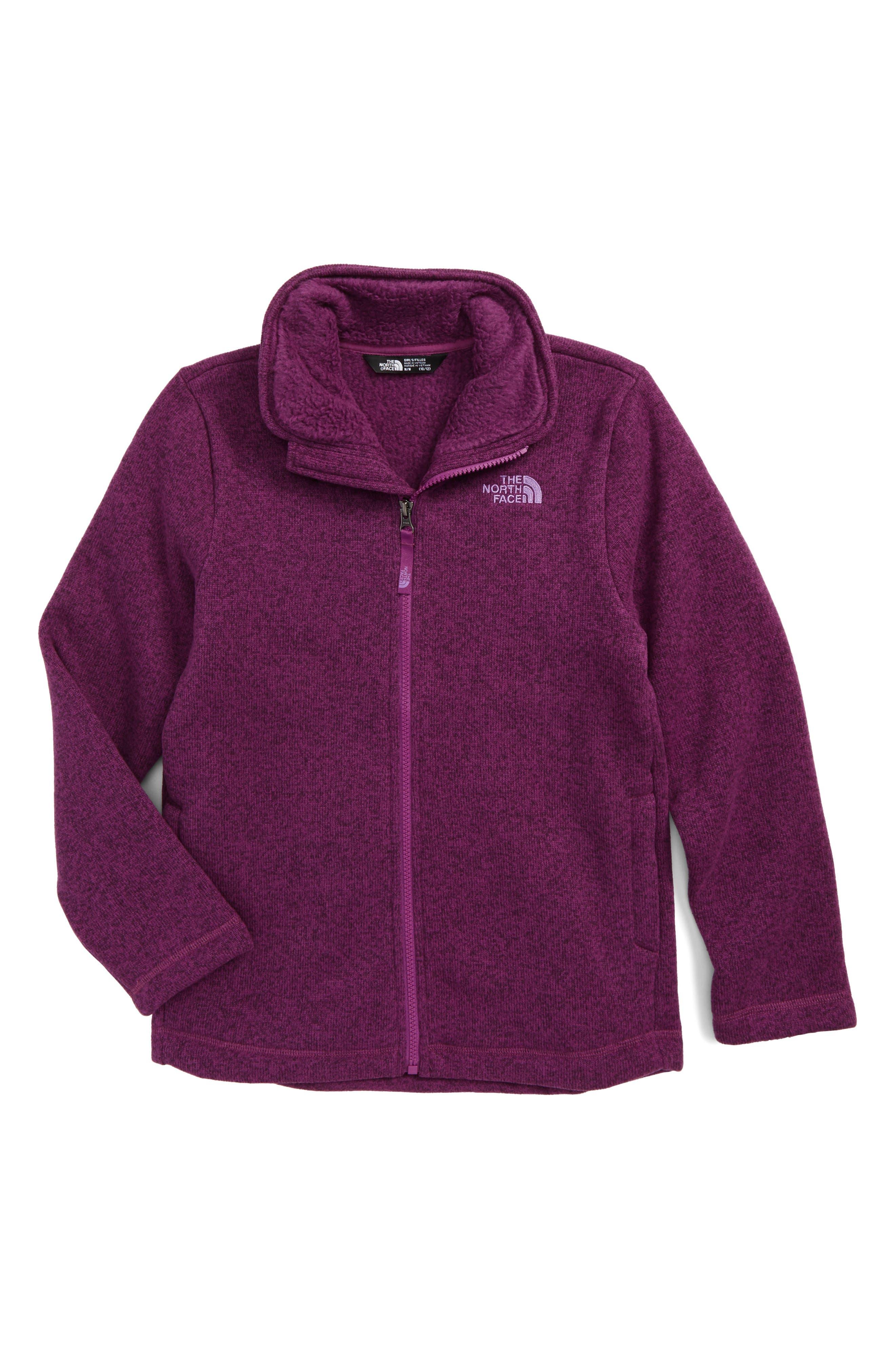 Main Image - The North Face Crescent Fleece Jacket (Little Girls & Big Girls)