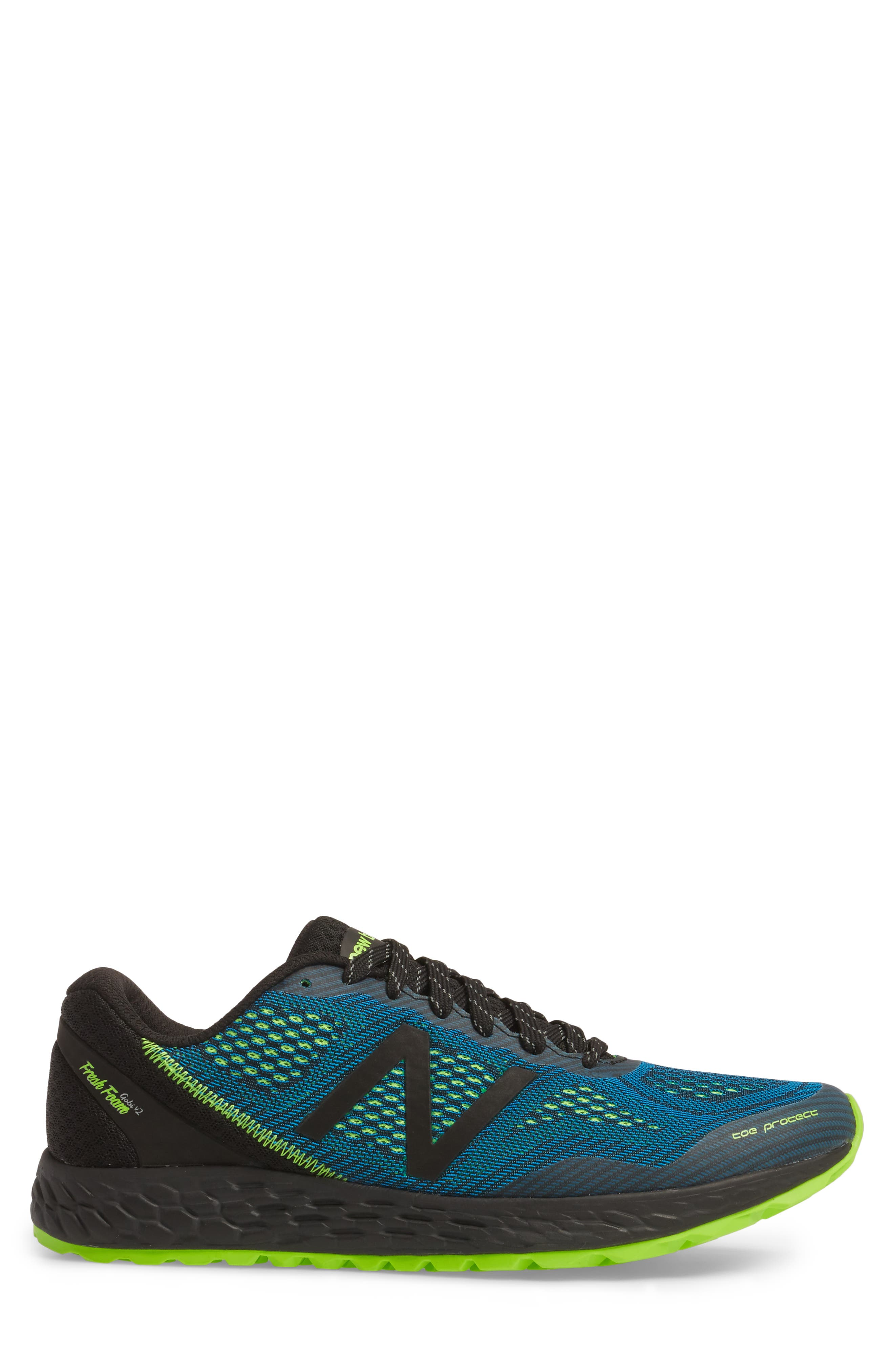 Fresh Foam Gobi V2 Trail Running Shoe,                             Alternate thumbnail 2, color,                             Black/ Blue