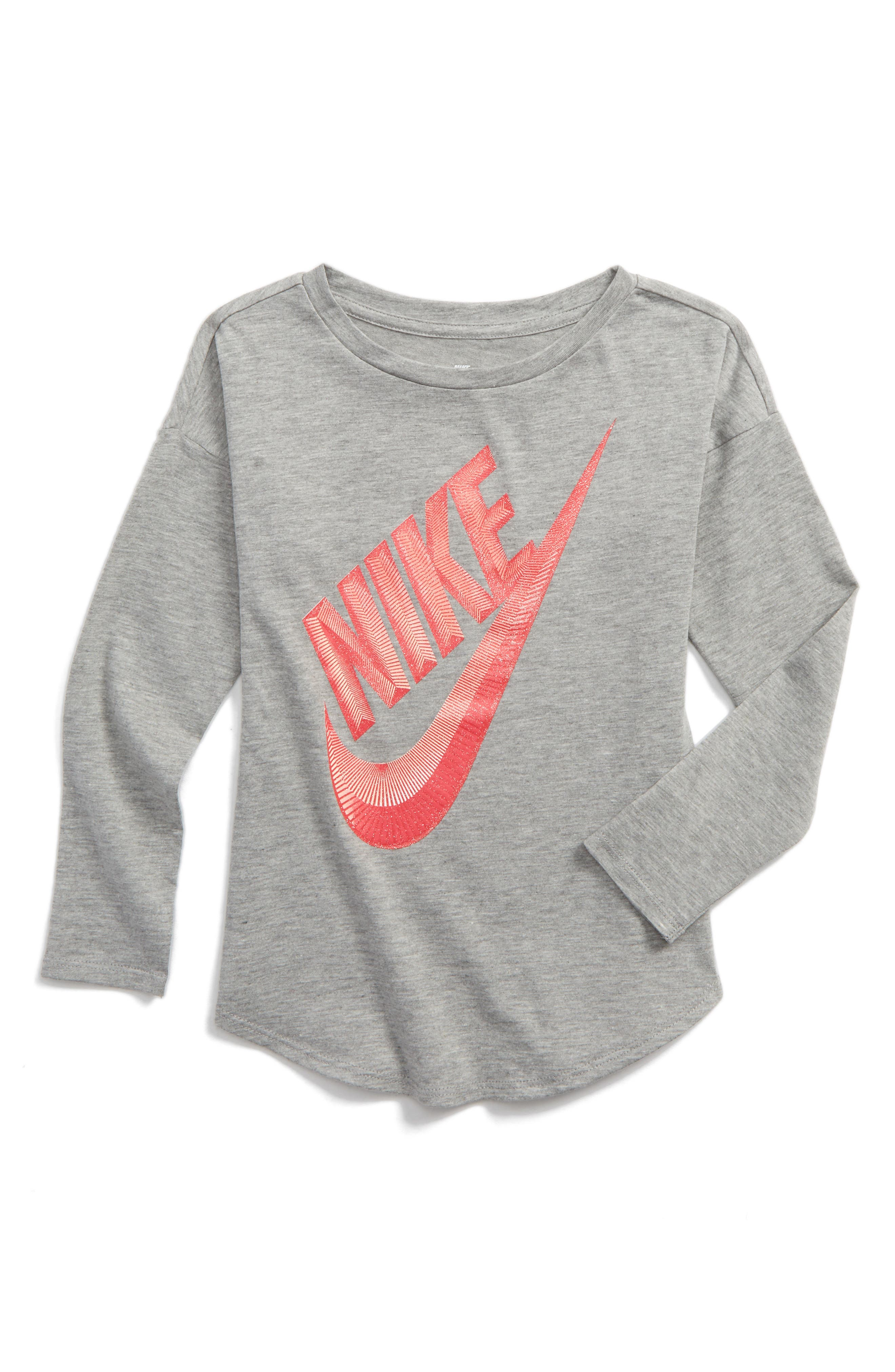 Alternate Image 1 Selected - Nike Futura Modern Tee (Toddler Girls & Little Girls)