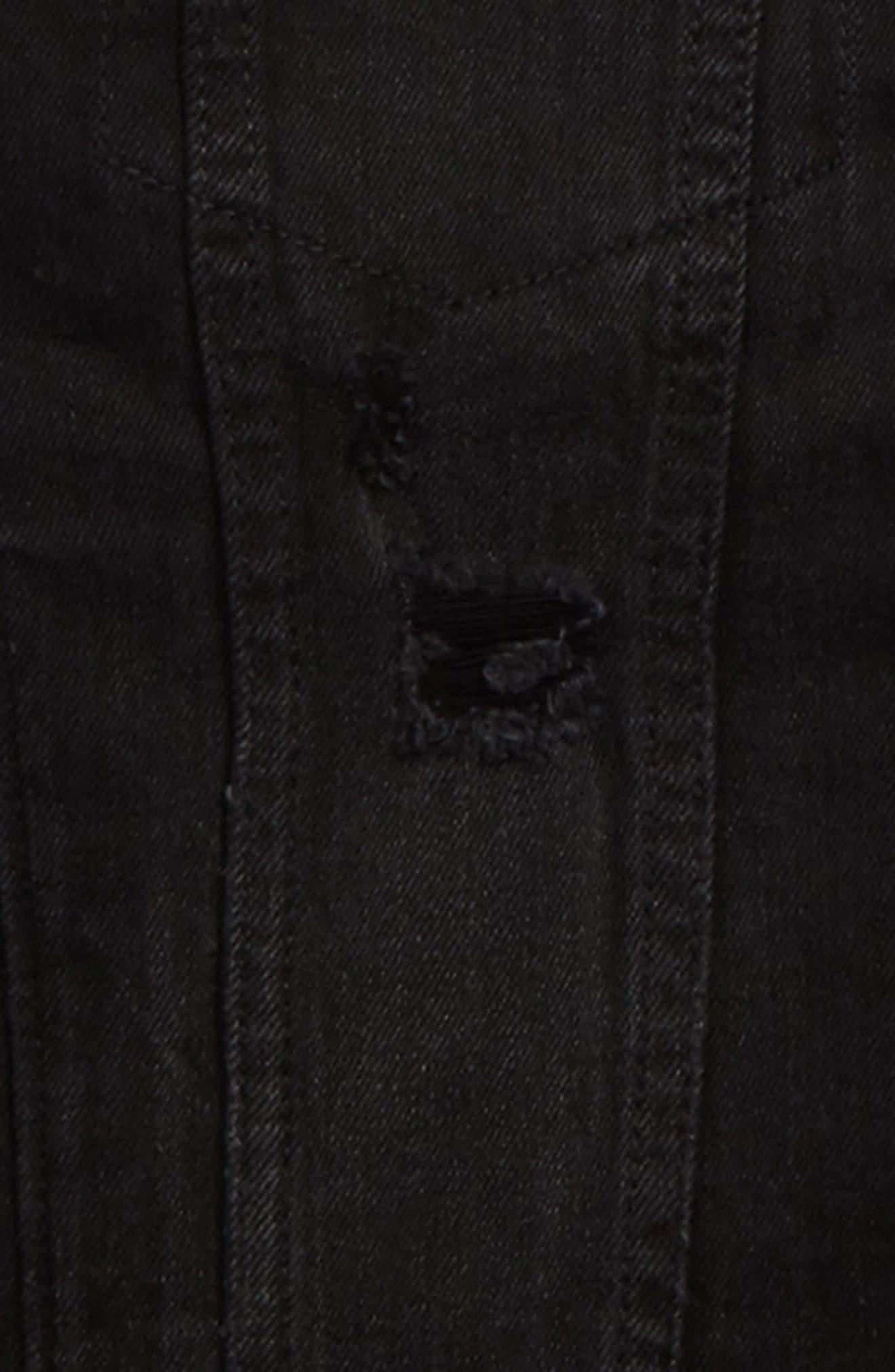 Alternate Image 2  - Treasure & Bond Distressed Denim Hooded Jacket (Big Boys)