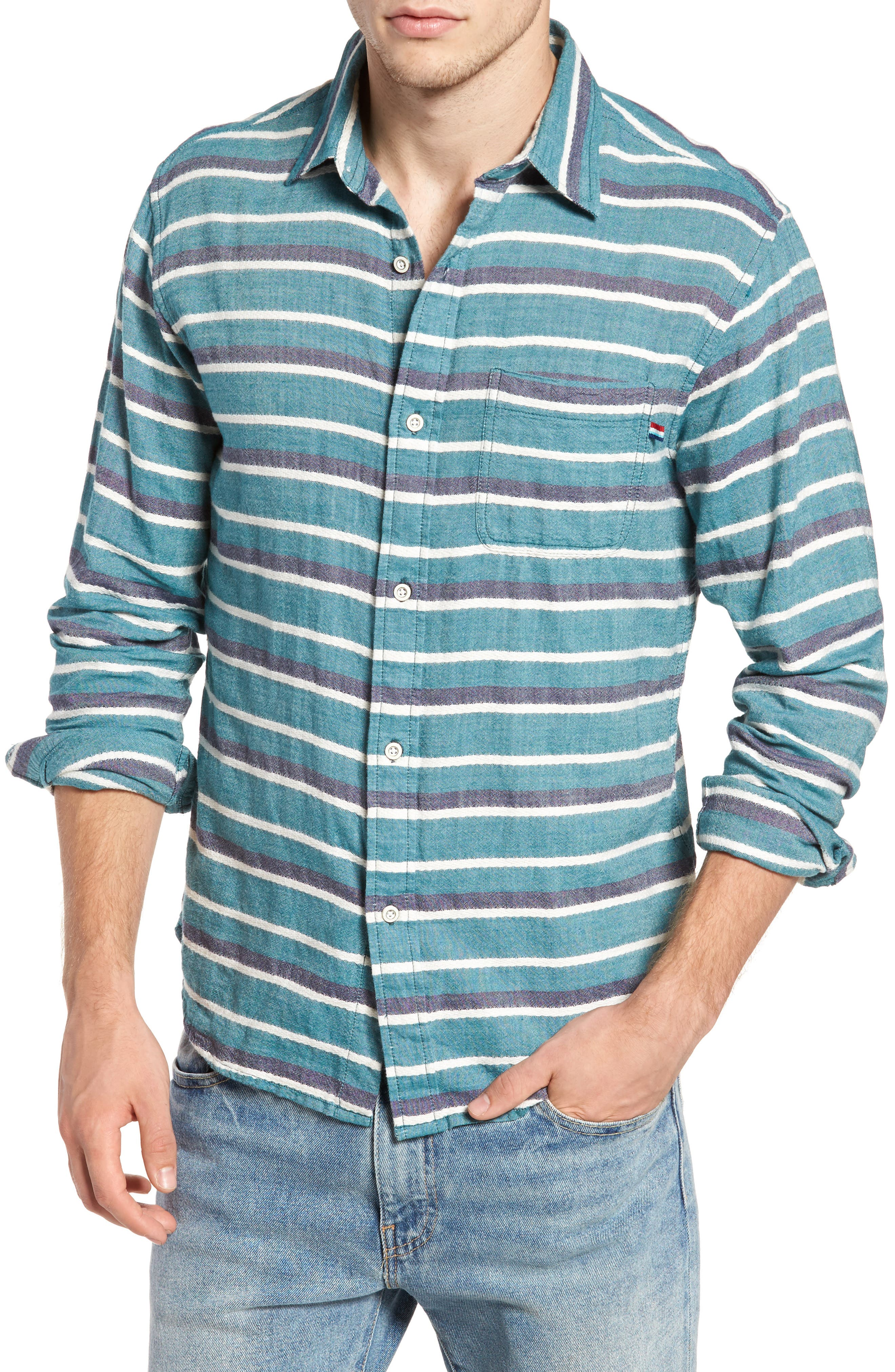 SOL ANGELES Glade Stripe Woven Shirt