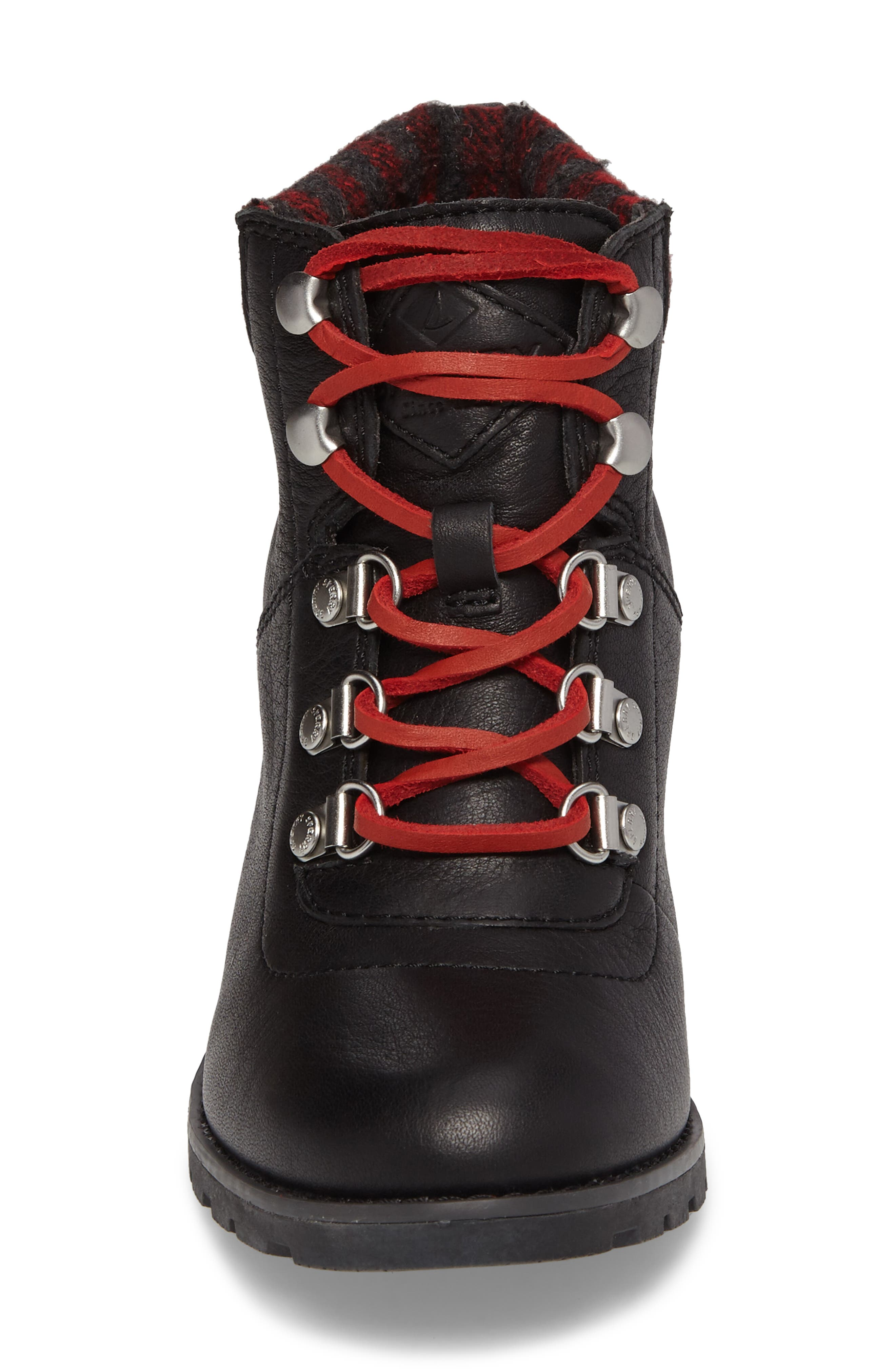 Top-Sider<sup>®</sup> Celeste Bliss Wedge Boot,                             Alternate thumbnail 4, color,                             Black Leather