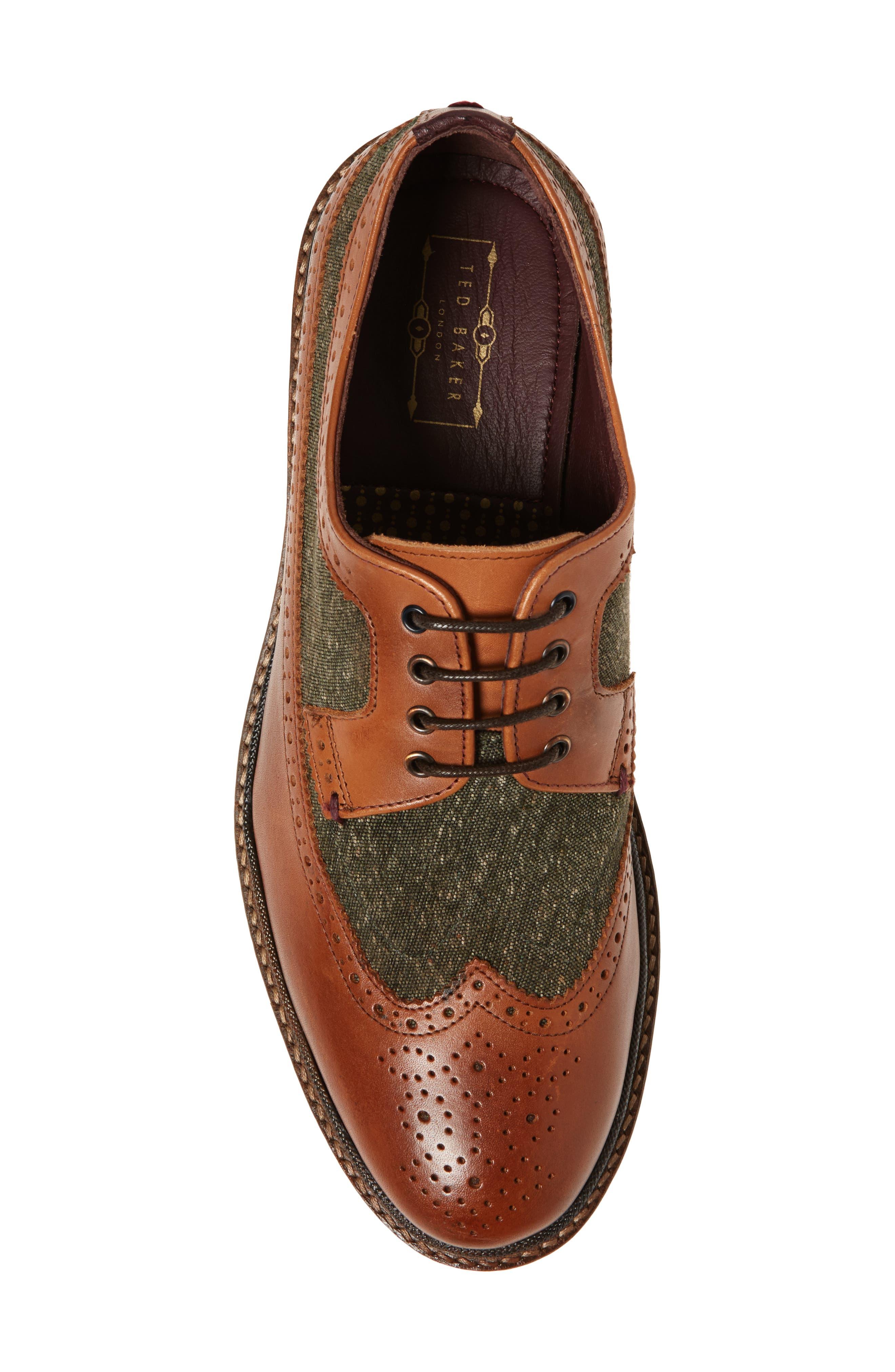 Casbo Spectator Shoe,                             Alternate thumbnail 5, color,                             Tan Multi Leather