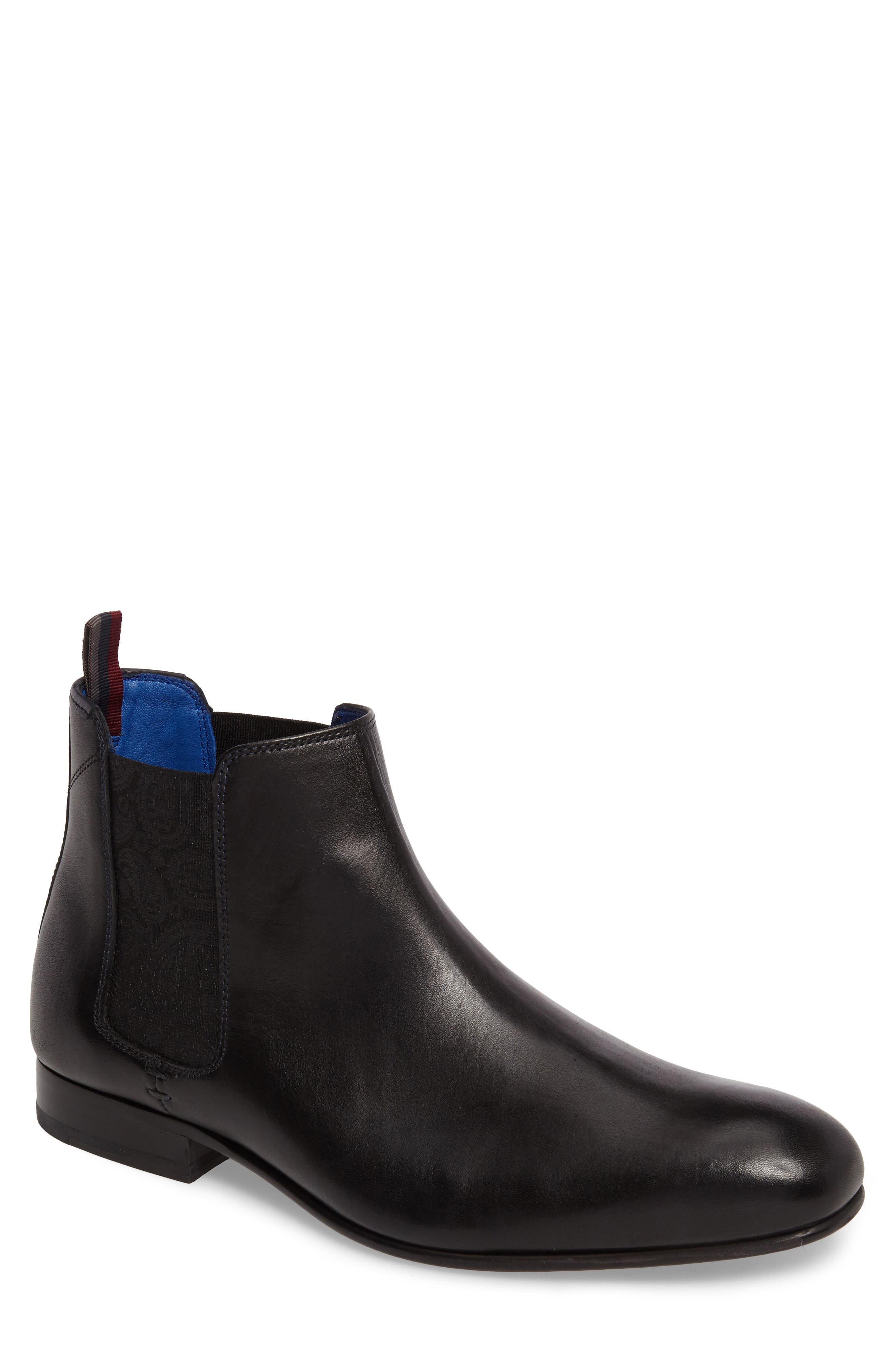 Kayto Chelsea Boot,                         Main,                         color, Black Leather