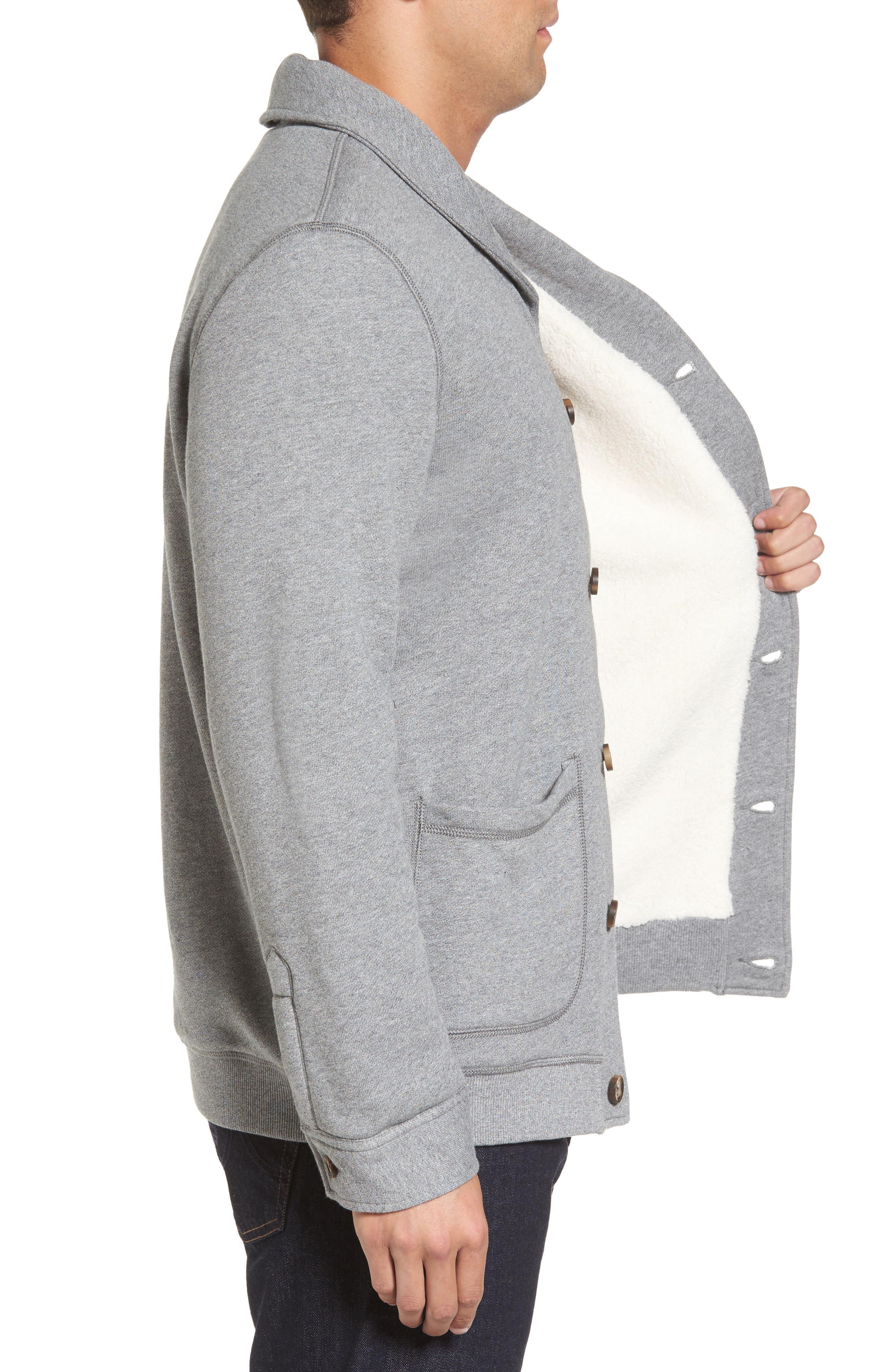 Alternate Image 3  - UGG® Faux Shearling Lined Shawl Collar Cardigan