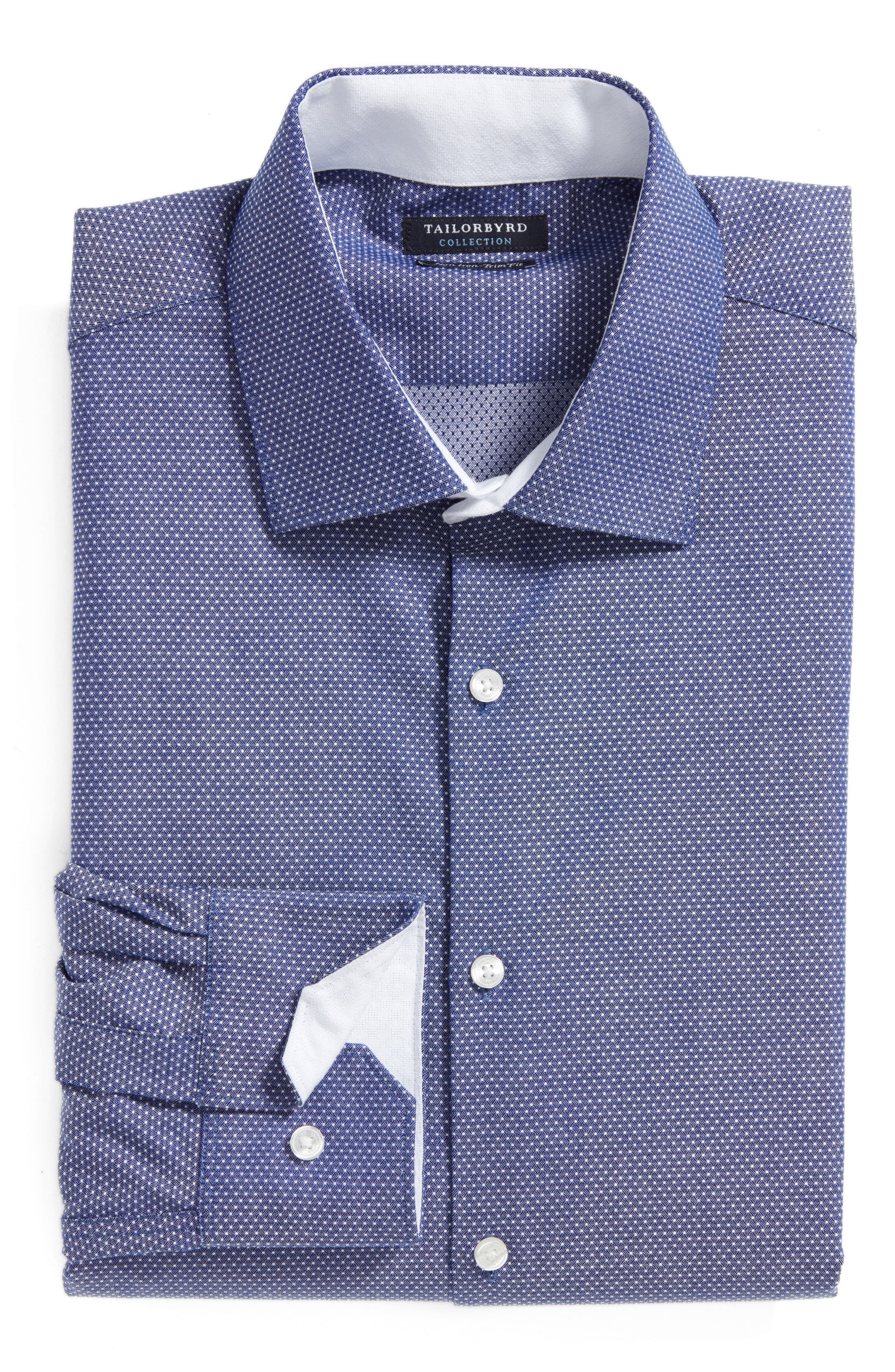 Tailorbyrd Eden Isle Trim Fit Non-Iron Geometric Dress Shirt