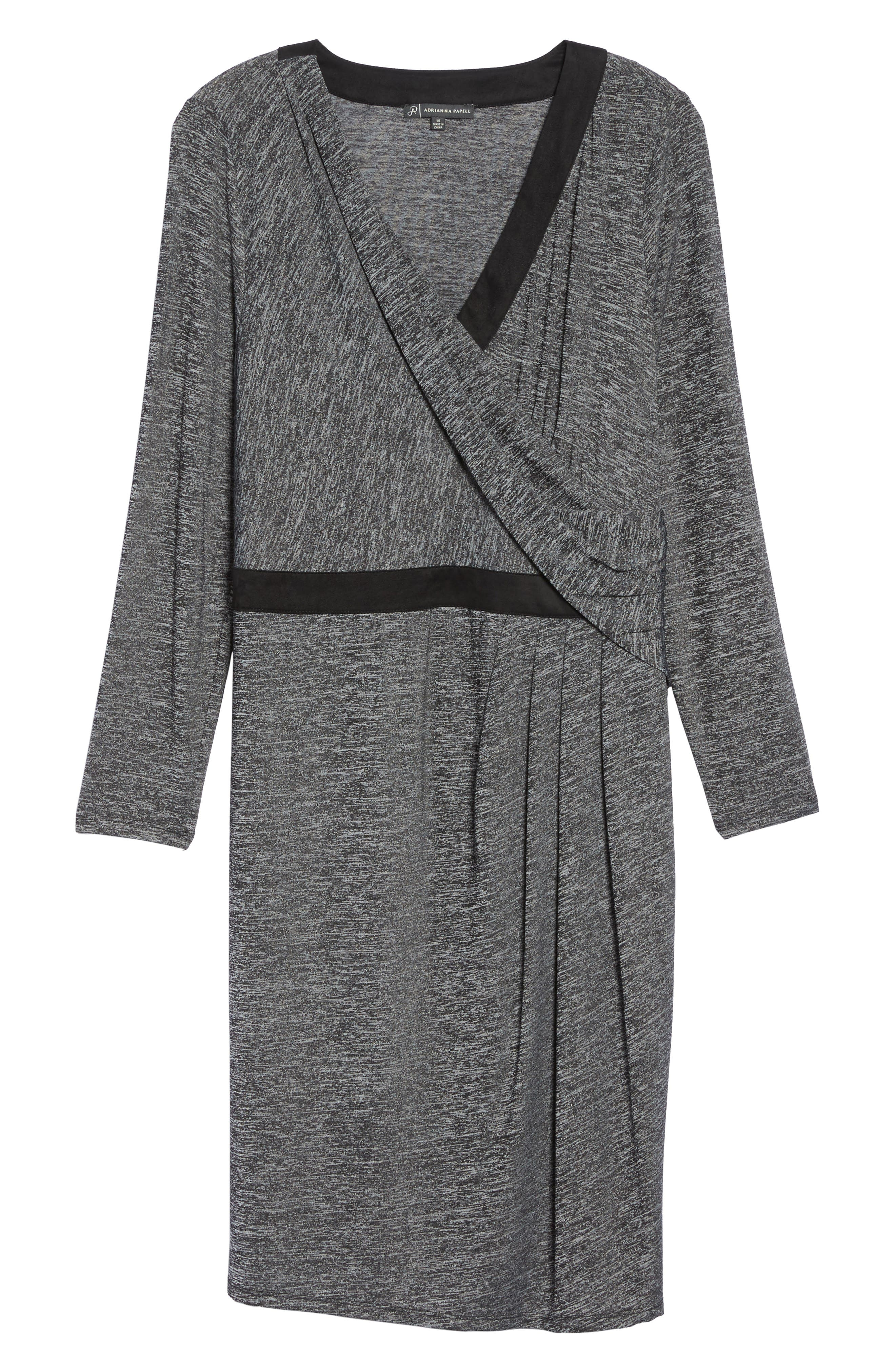 Alternate Image 6  - Adrianna Papell Knit Faux Wrap Dress (Plus Size)