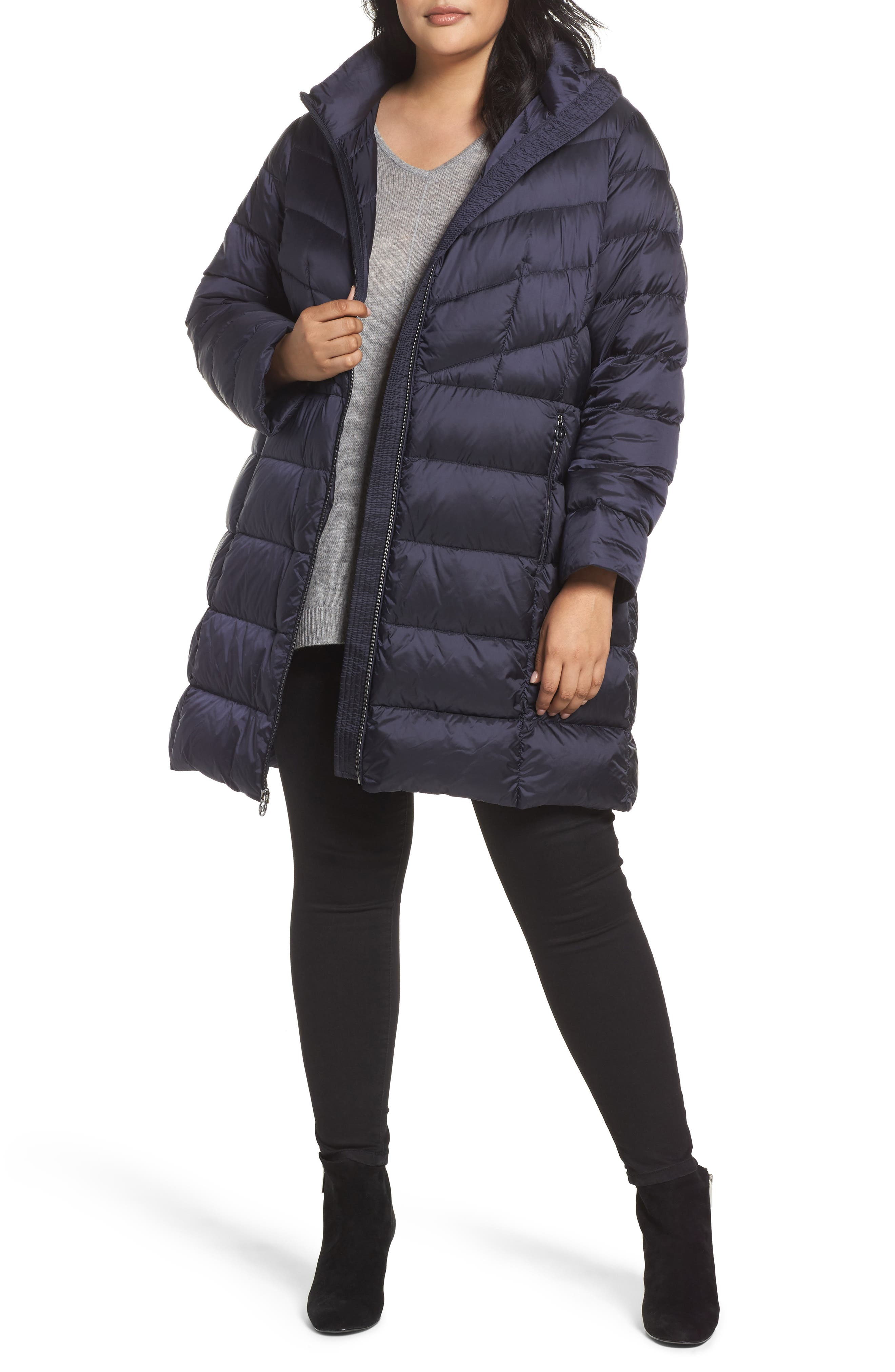 MICHAEL Michael Kors Packable Down Long Coat (Plus Size)