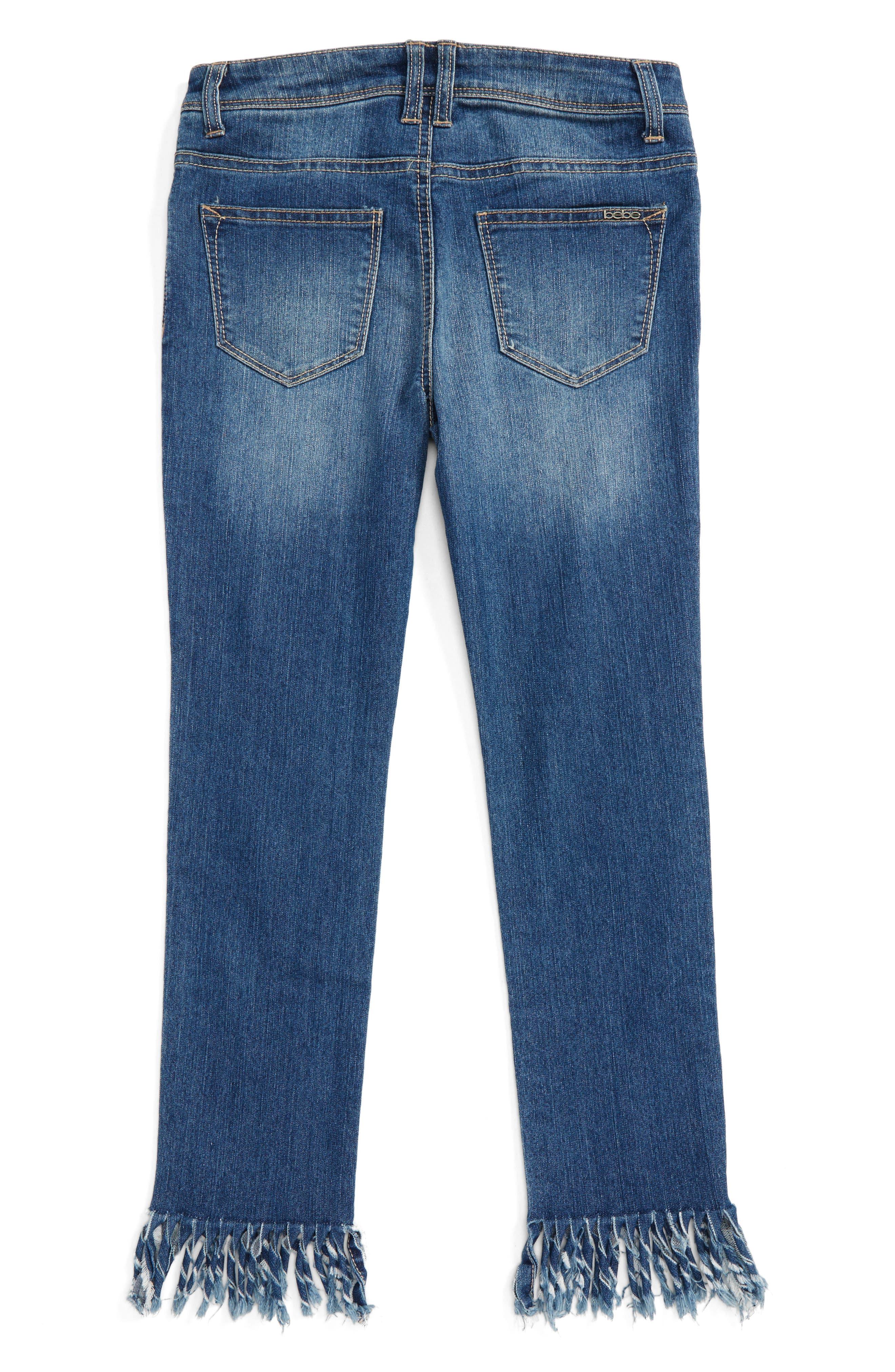 Fringe Jeans,                             Alternate thumbnail 2, color,                             Med Stone