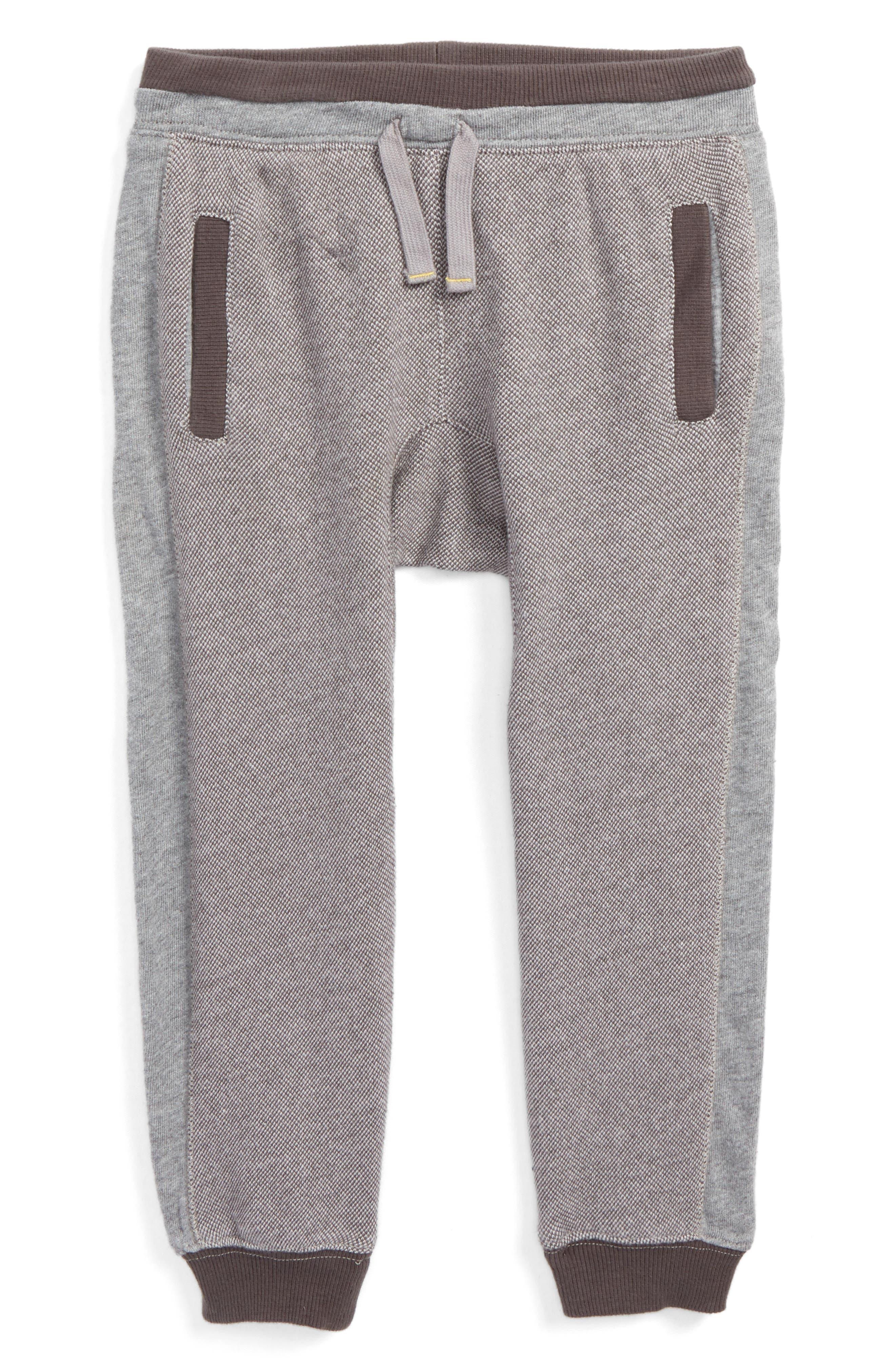 Birdseye Knit Jogger Pants,                             Main thumbnail 1, color,                             Grey