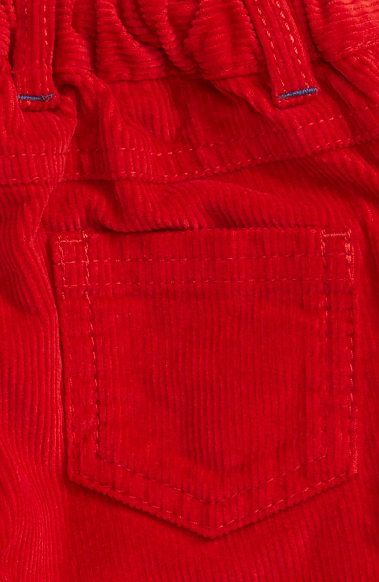 Lined Corduroy Pants,                             Alternate thumbnail 3, color,                             Red Engine Red