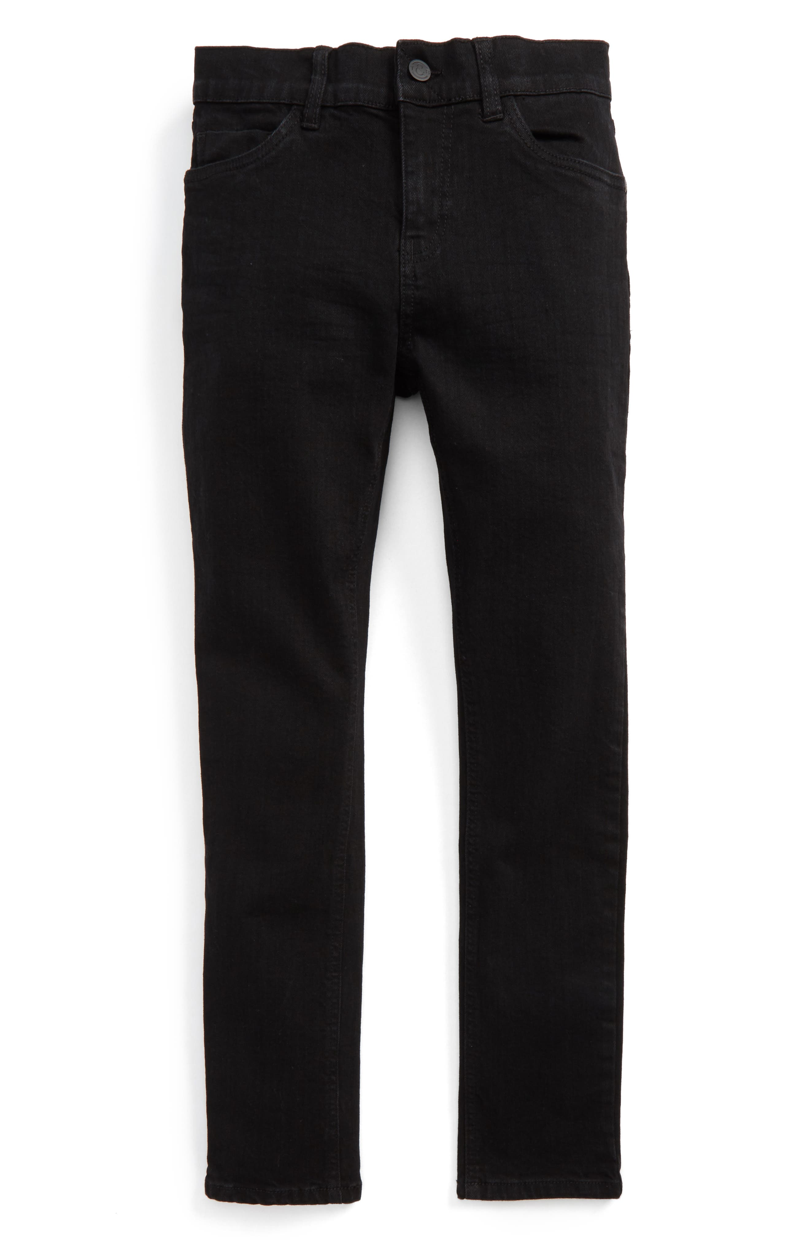 Slouch Skinny Jeans,                             Main thumbnail 1, color,                             Easy Black Wash
