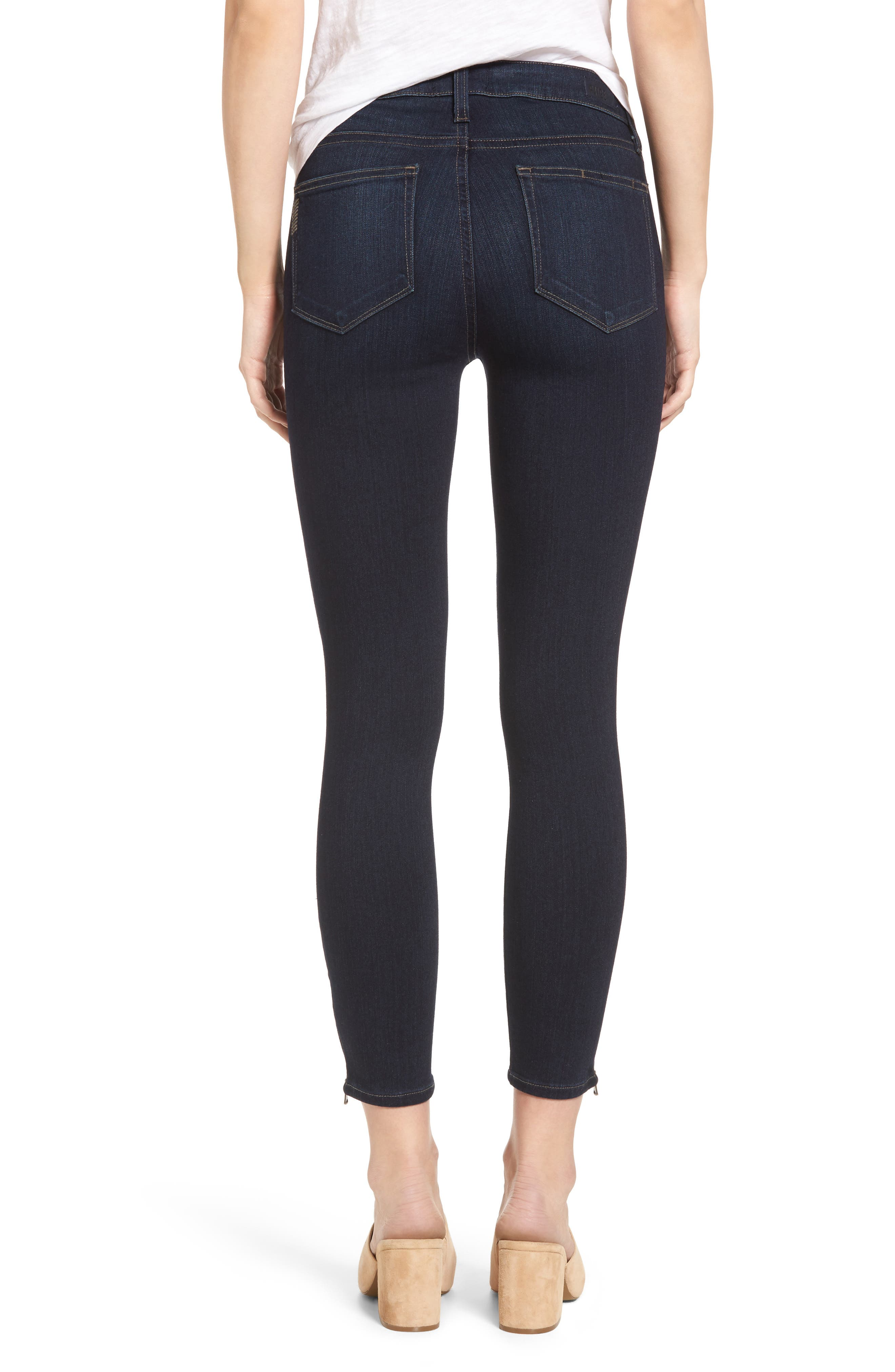 Alternate Image 2  - PAIGE Transcend - Jane Zip Crop Skinny Jeans (Elsie No Whiskers)