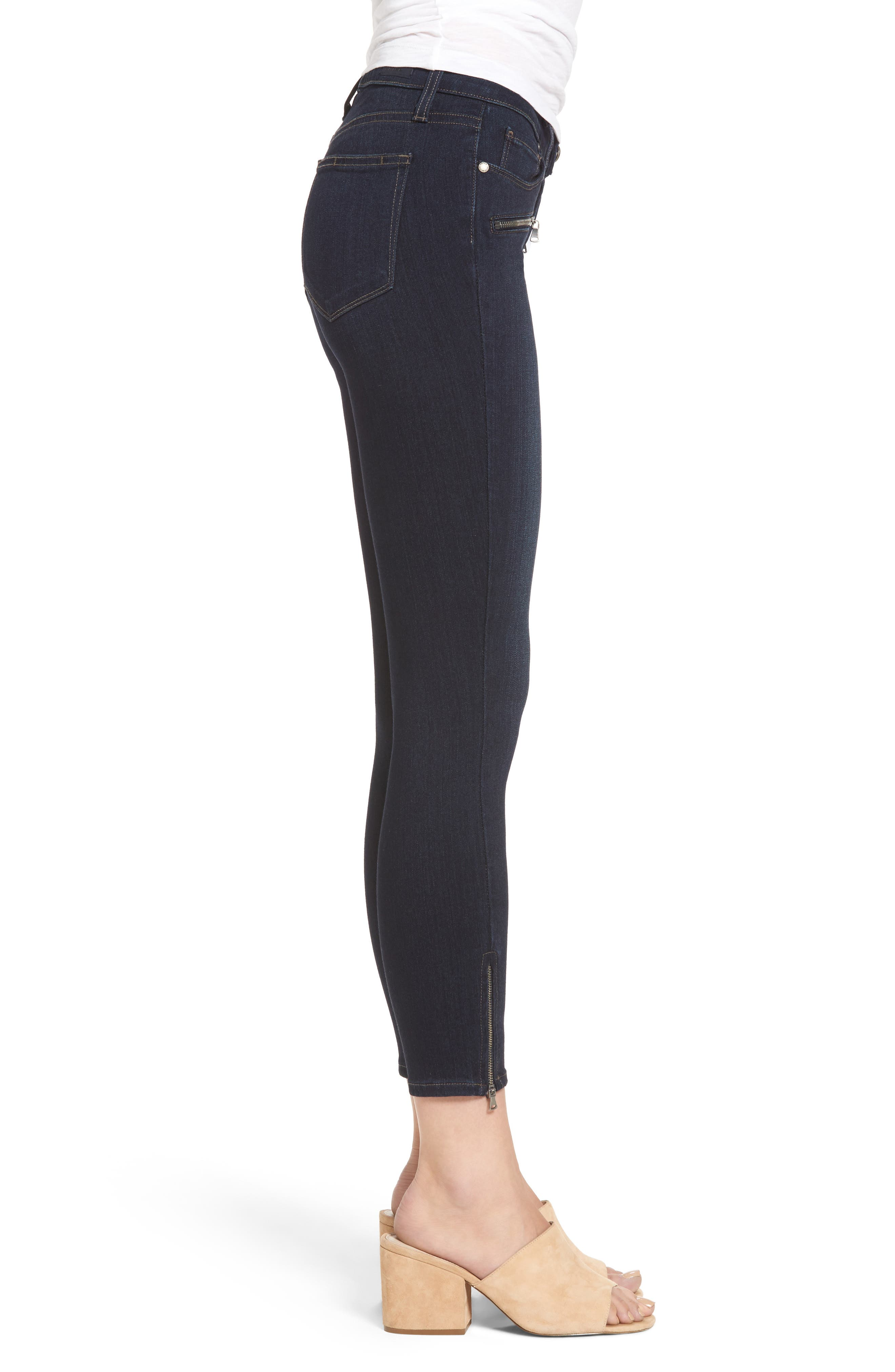Alternate Image 3  - PAIGE Transcend - Jane Zip Crop Skinny Jeans (Elsie No Whiskers)