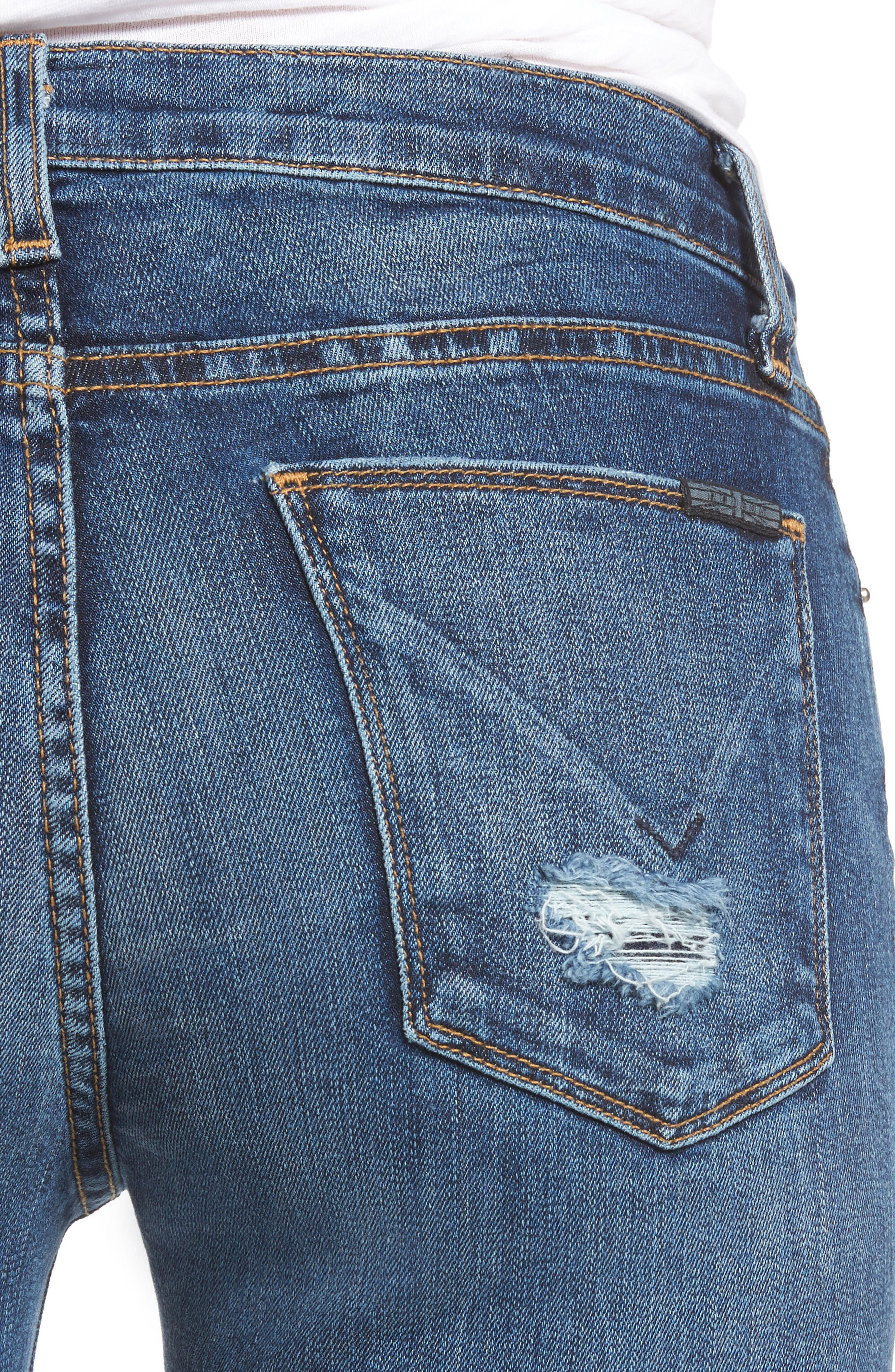 Tally Unfamed Hem Skinny Jeans,                             Alternate thumbnail 4, color,                             Split Second
