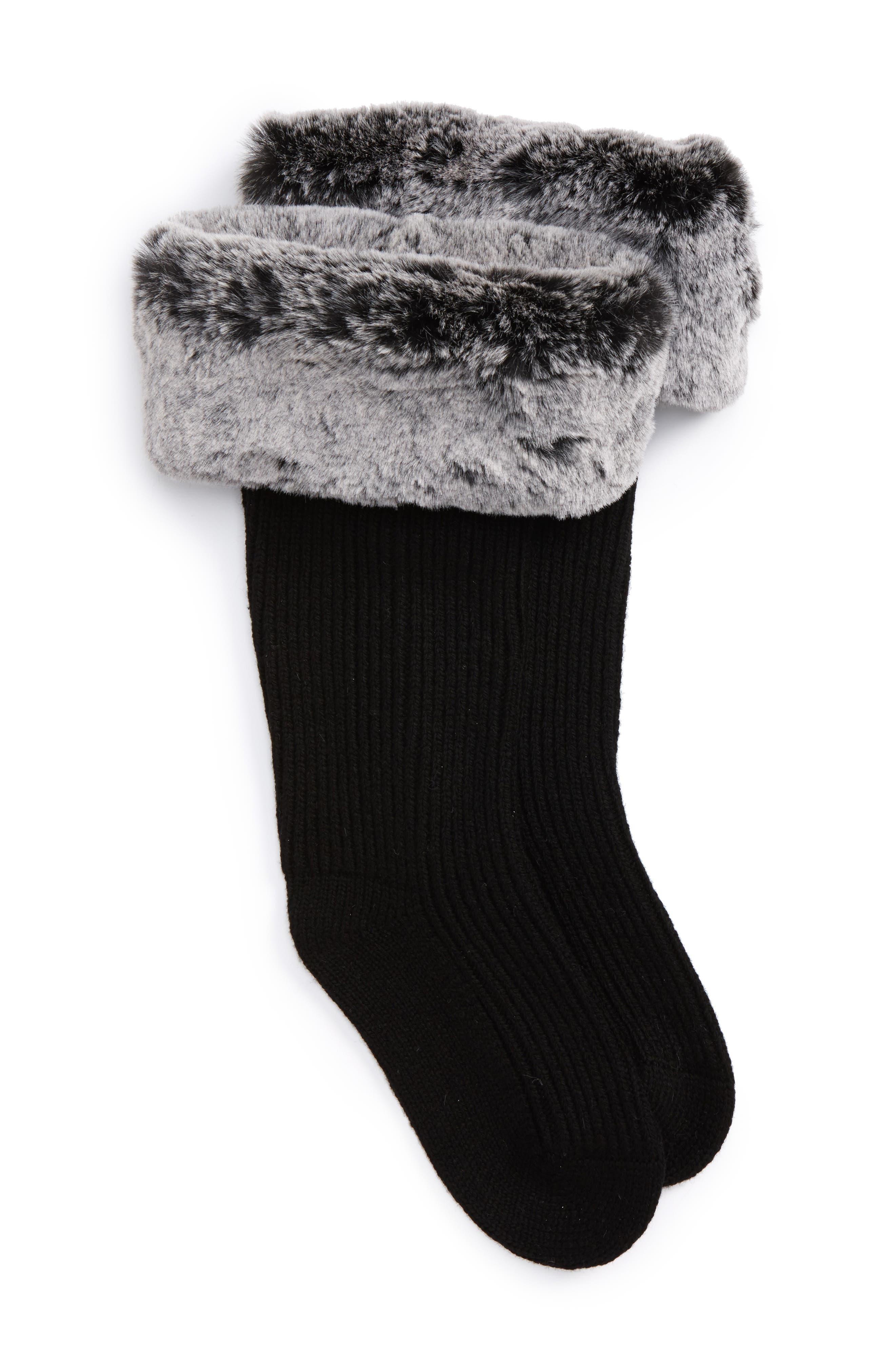 UGGpure<sup>™</sup> Tall Rain Boot Sock,                             Main thumbnail 1, color,                             Charcoal Wool