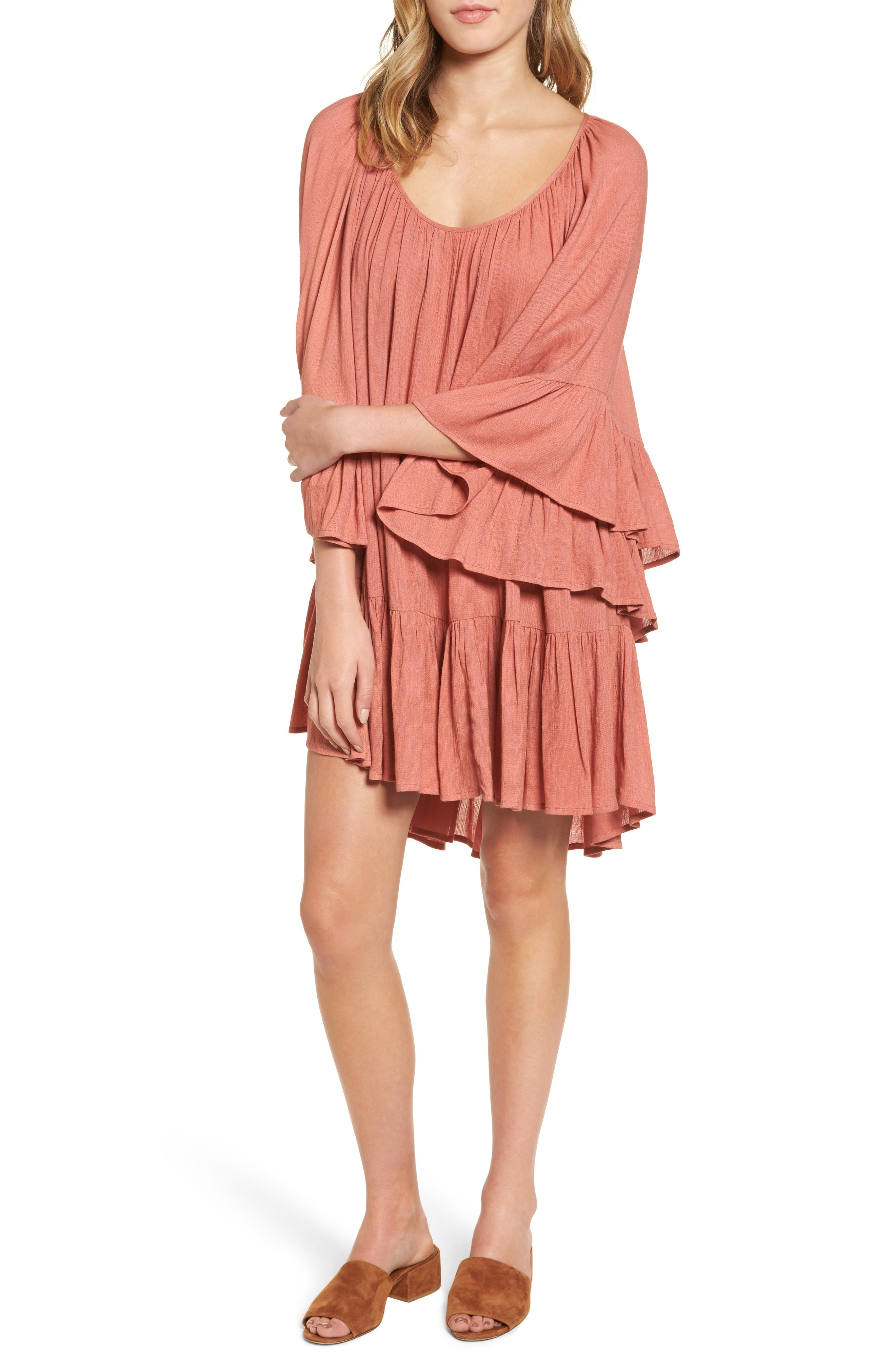 Gimme More Dress,                             Main thumbnail 1, color,                             Dusty Rose