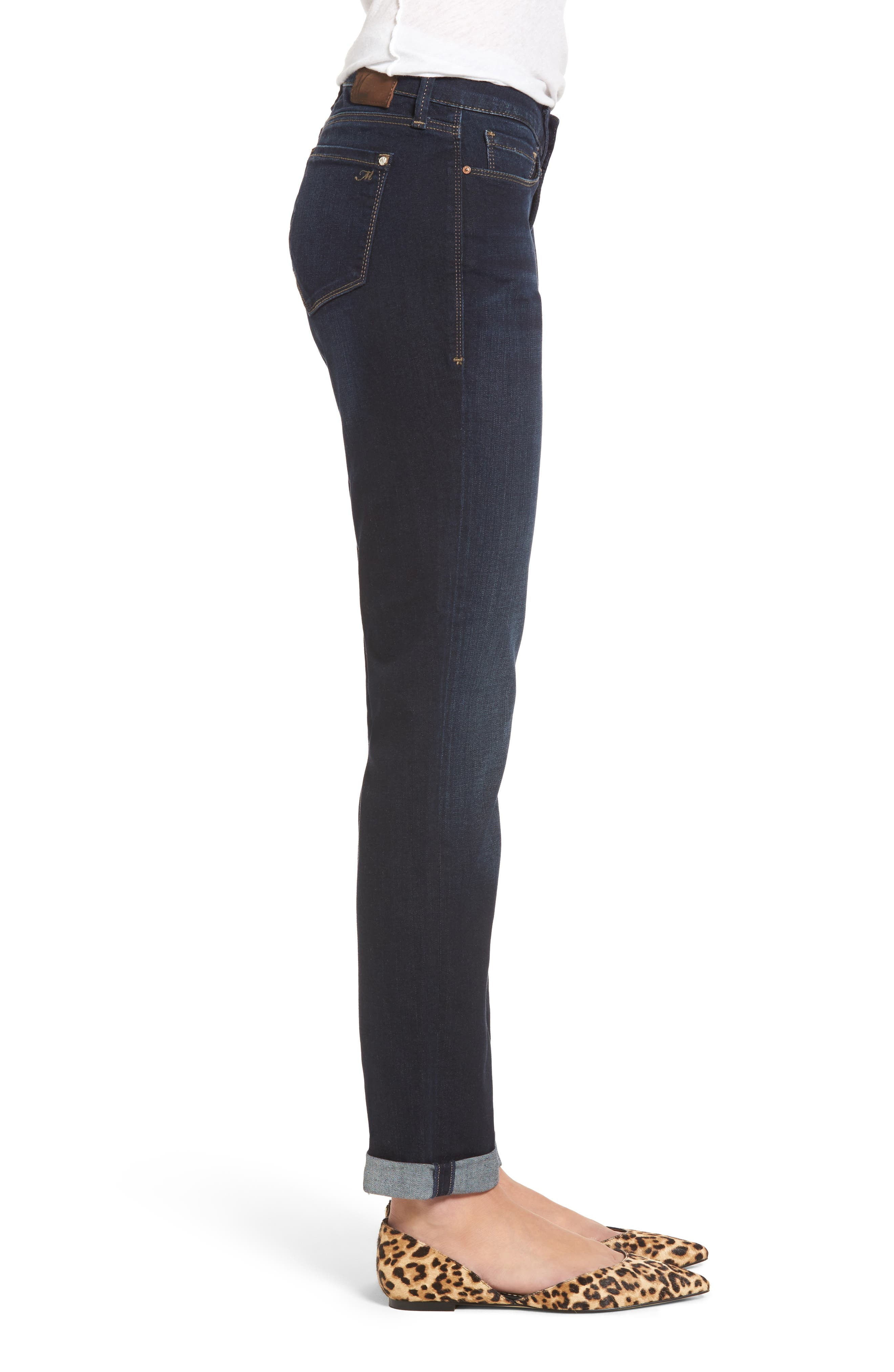 Alternate Image 3  - Mavi Jeans Emma Slim Boyfriend Jeans (Deep Brushed Tribeca)