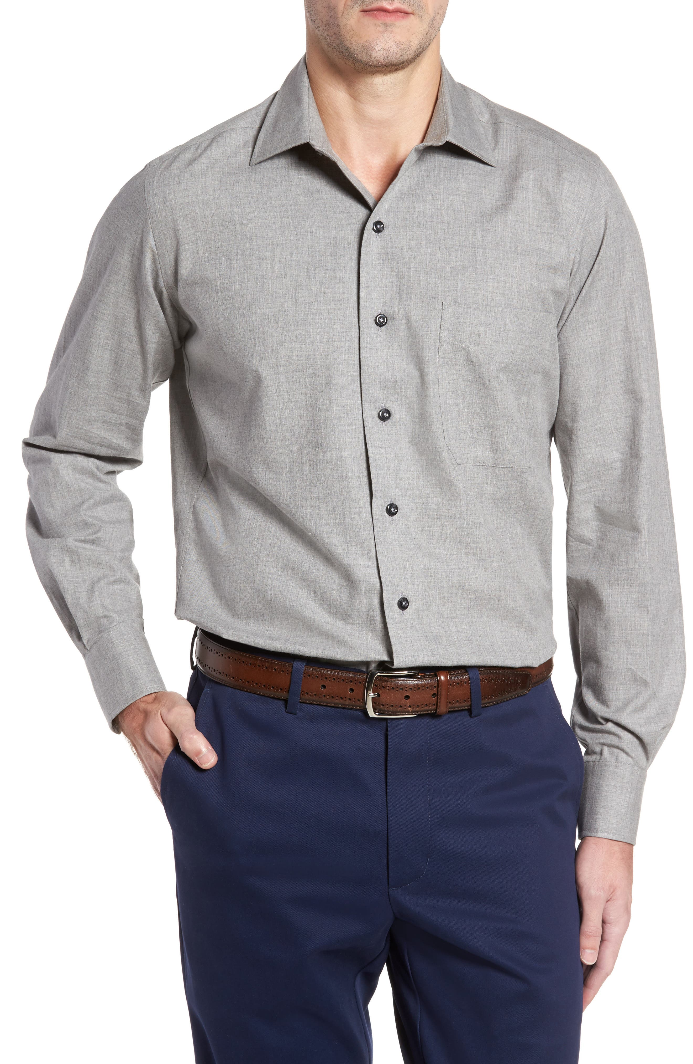 Alternate Image 1 Selected - David Donahue Regular Fit Sport Shirt