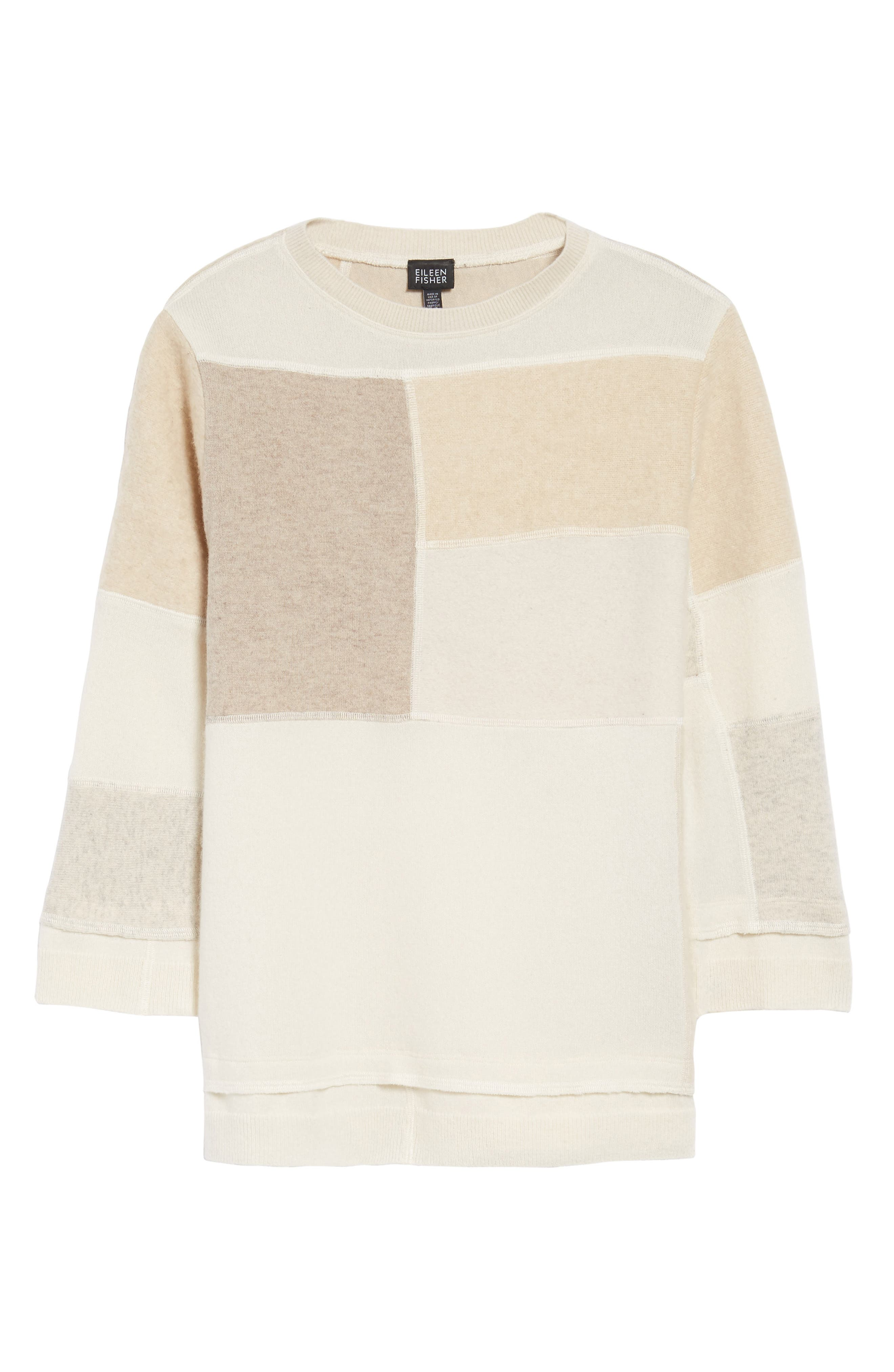 Alternate Image 6  - Eileen Fisher Colorblock Cashmere Sweater (Nordstrom Exclusive)