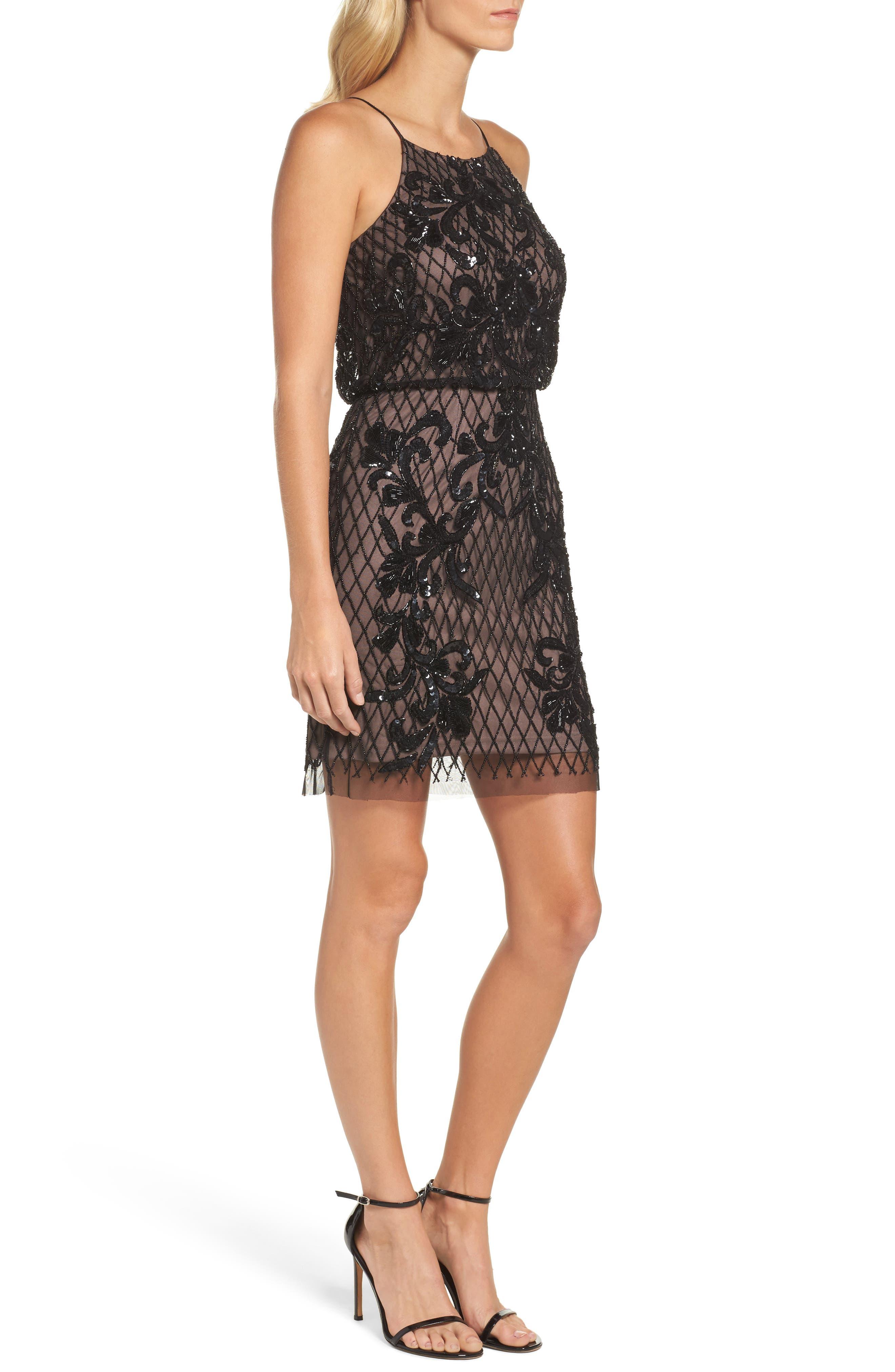 Alternate Image 3  - Adrianna Papell Embellished Blouson Minidress