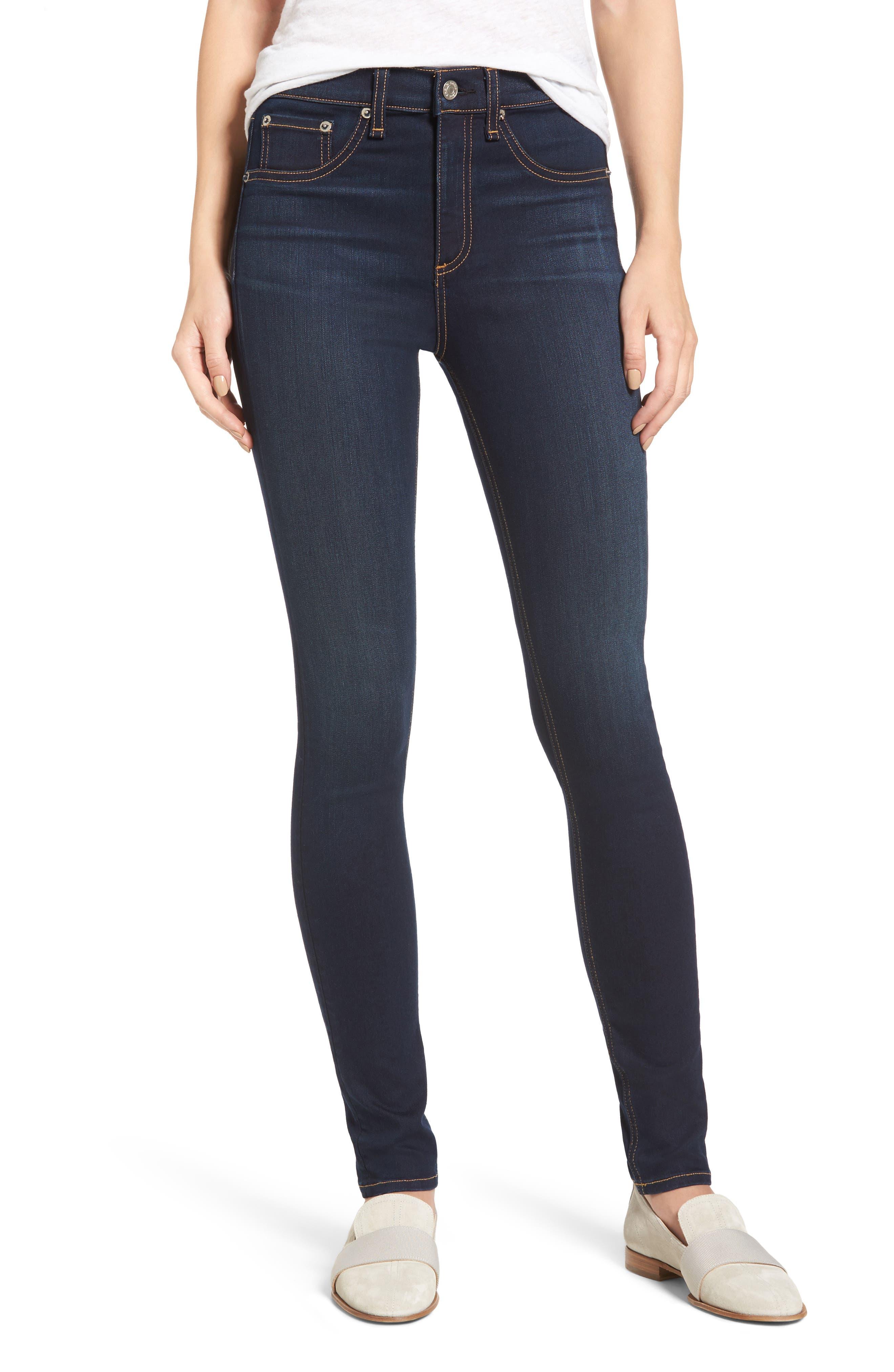 Main Image - rag & bone DENIM High Waist Skinny Jeans (Bedford)