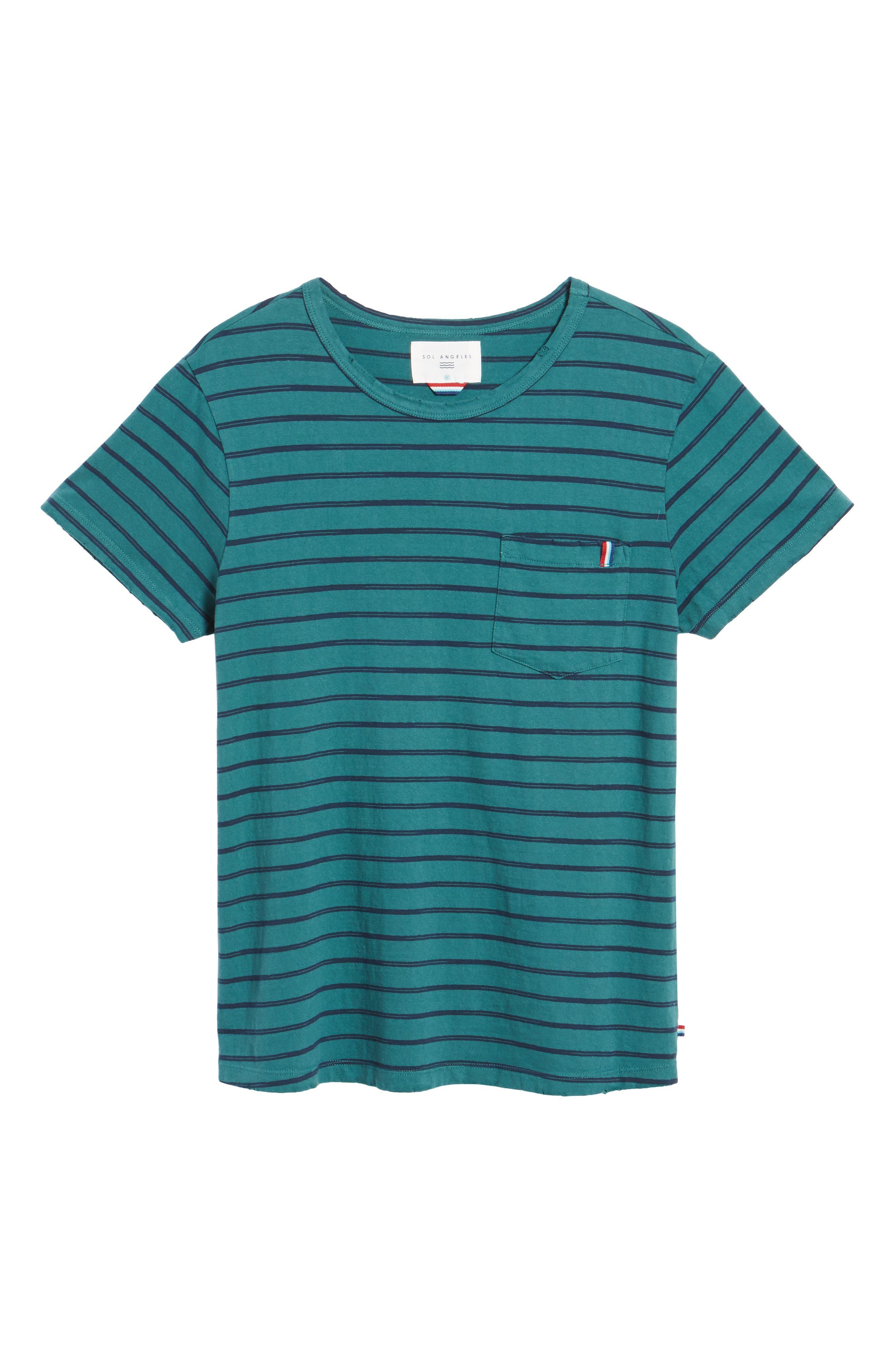 Alternate Image 6  - Sol Angeles Vintage Stripe Pocket T-Shirt